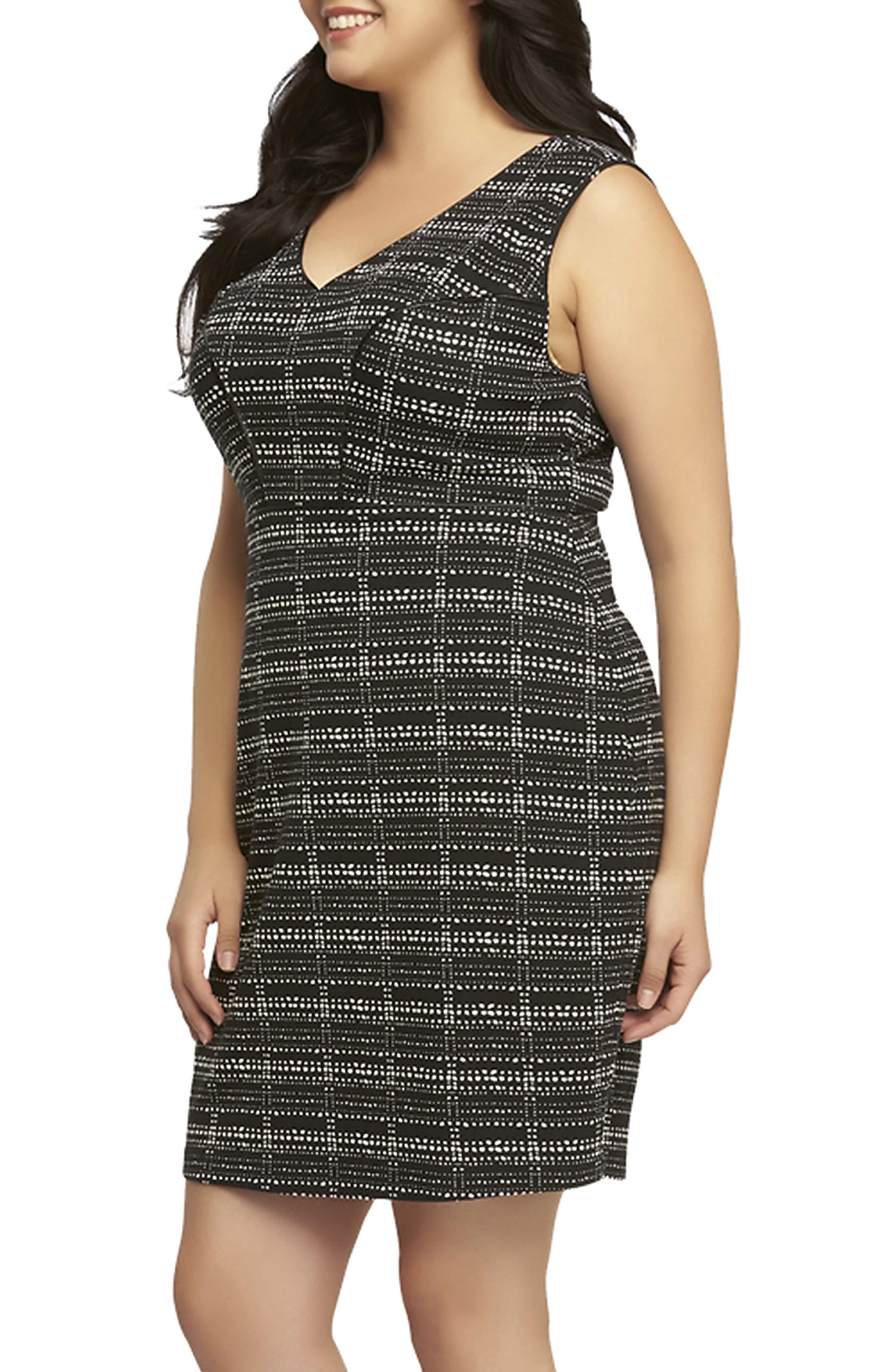 Alternate Image 3  - Tart 'Viera' Piped Detail V-Neck Sheath Dress (Plus Size)