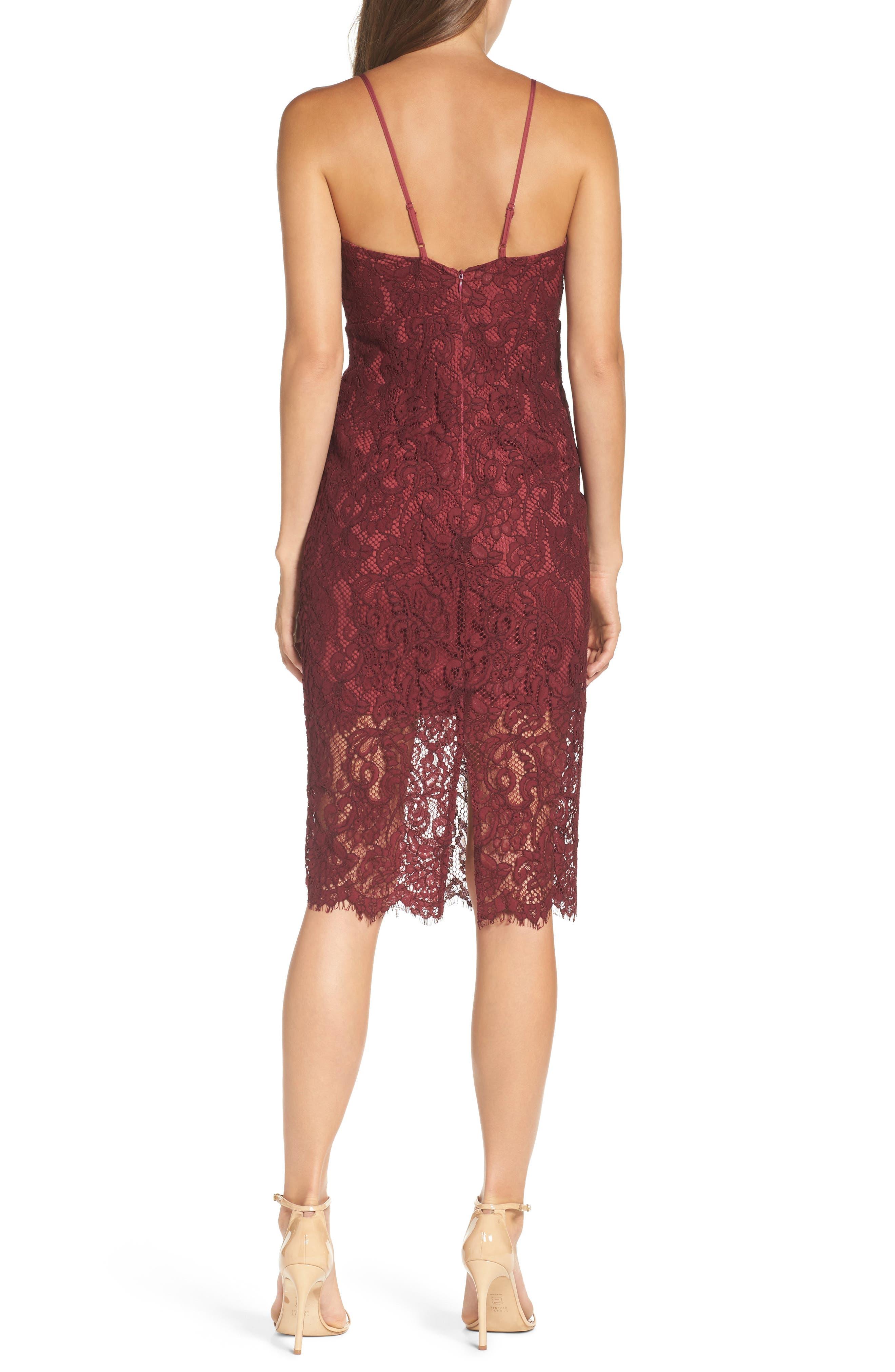 Alternate Image 2  - Bardot Lace Pencil Dress