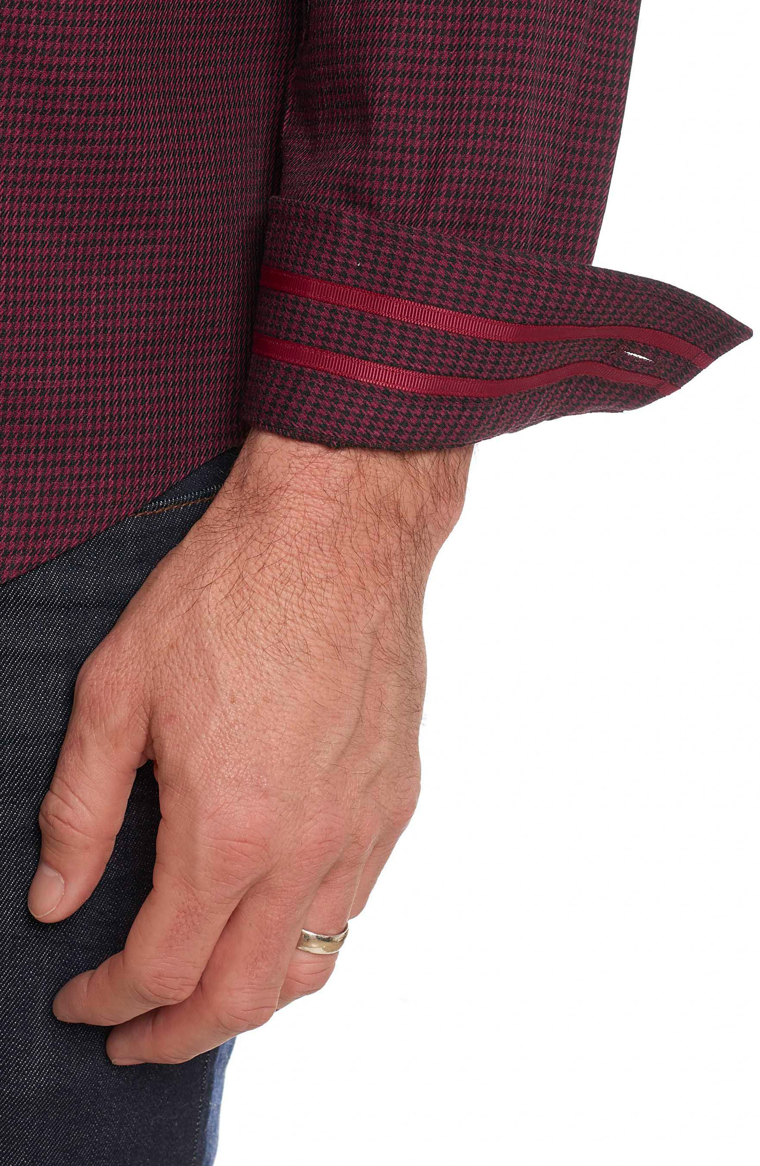 Alternate Image 5  - Robert Graham Colin Tailored Fit Sport Shirt