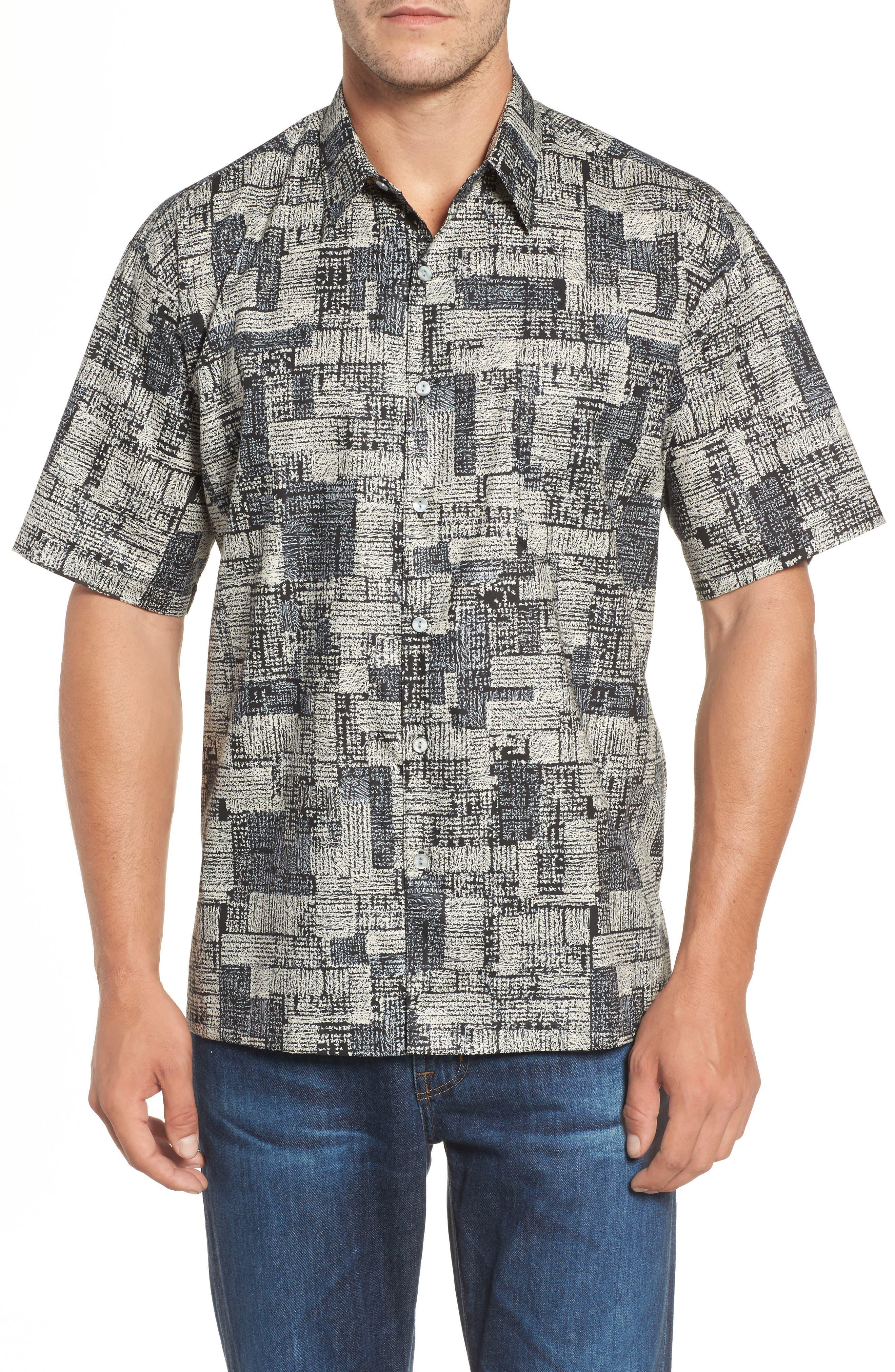 Tori Richard Scratchboard Classic Fit Print Sport Shirt