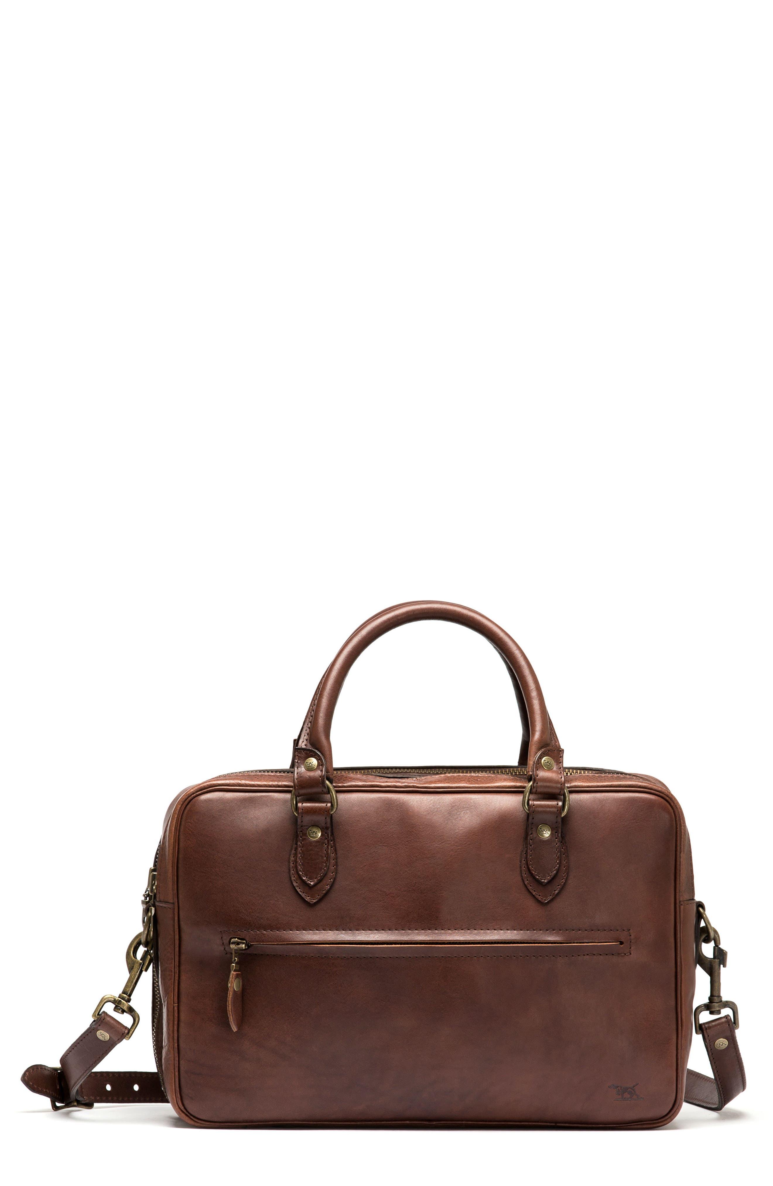Britomart Leather Briefcase,                         Main,                         color, Mud