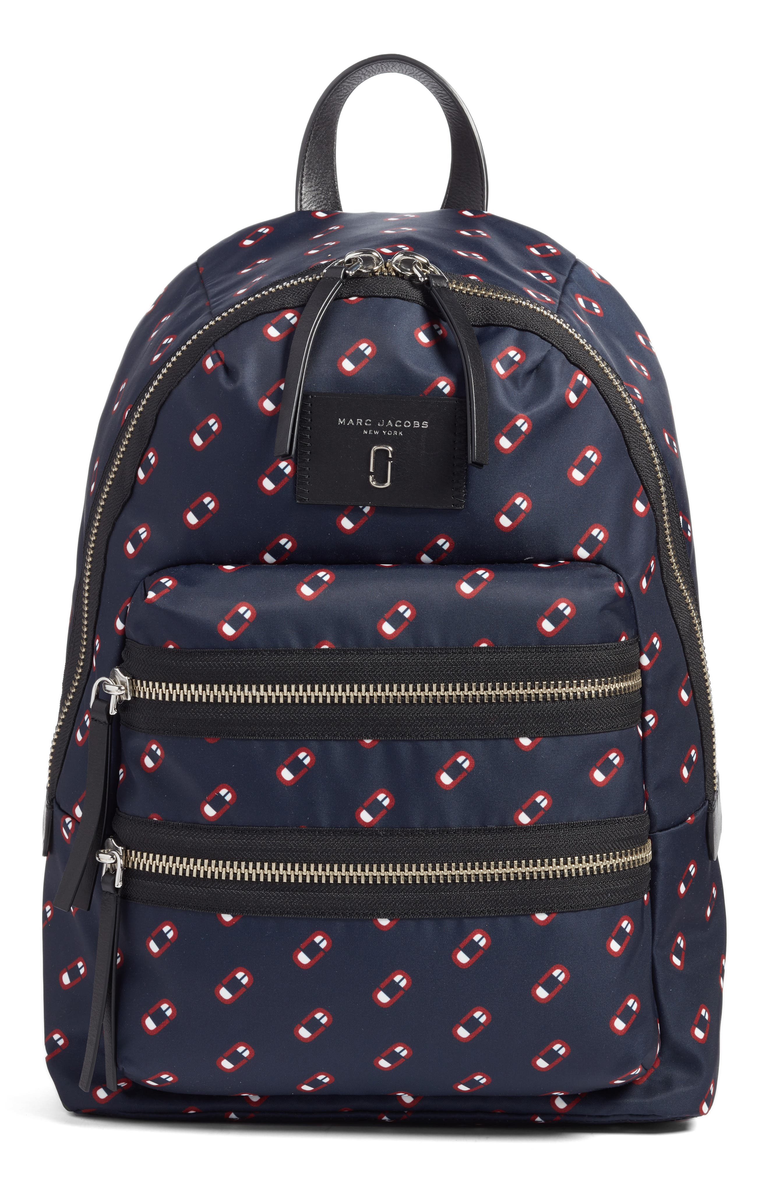 MARC JACOBS Logo Scream Biker Backpack