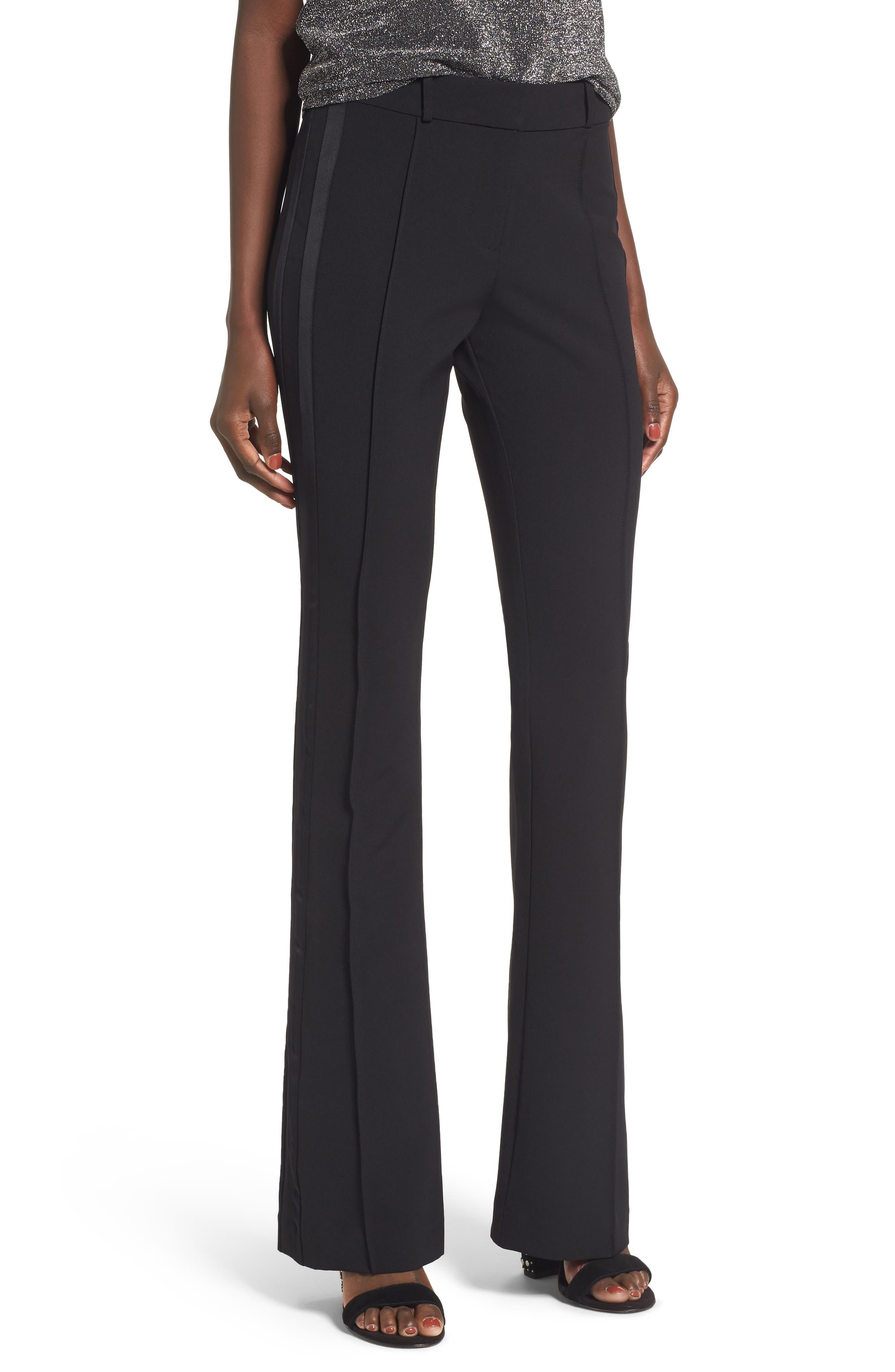 Roxy Flare Leg Pants,                             Main thumbnail 1, color,                             Black