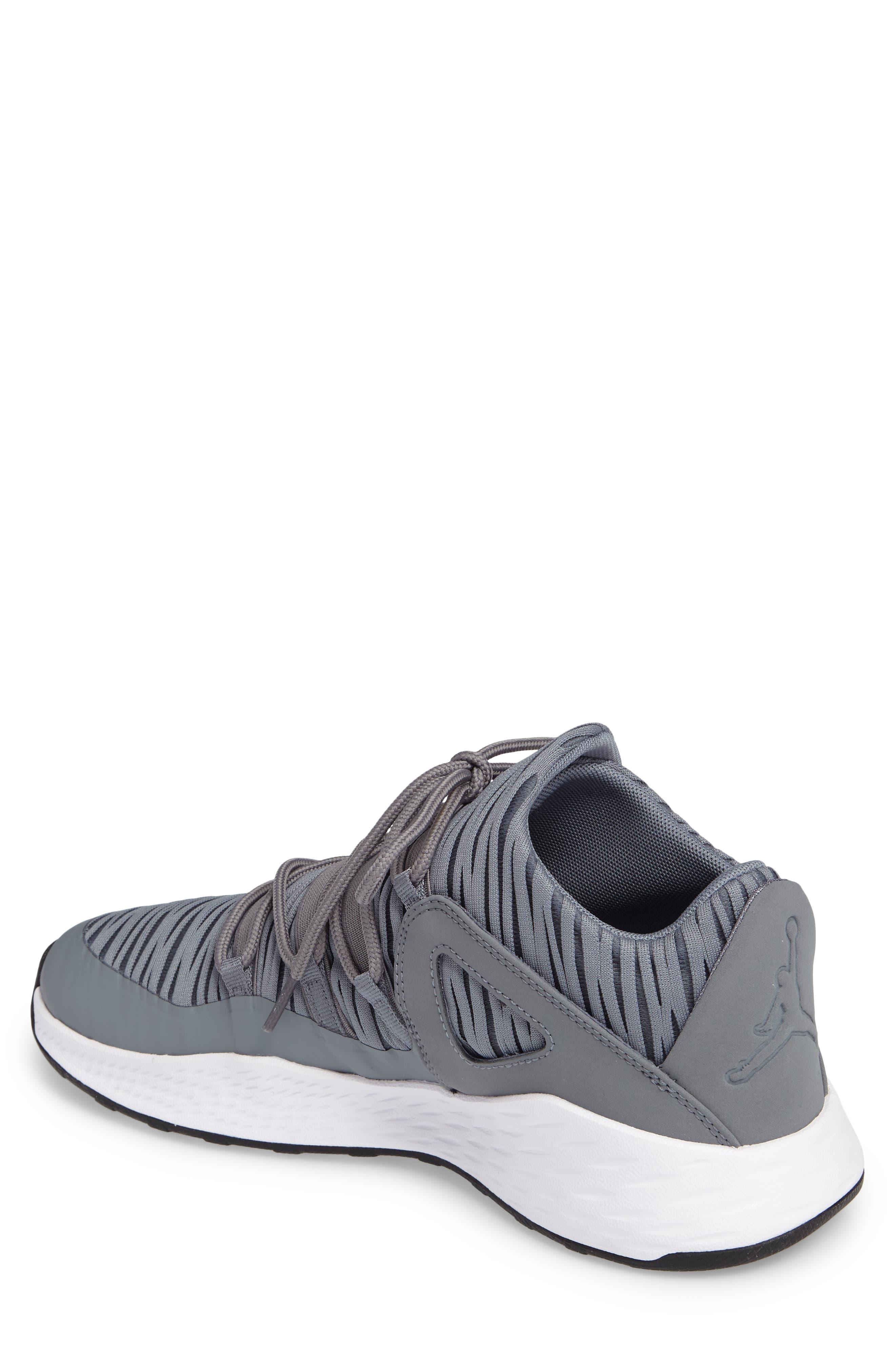 Jordan Formula 23 Low Sneaker,                             Alternate thumbnail 2, color,                             Cool Grey/ White/ Black