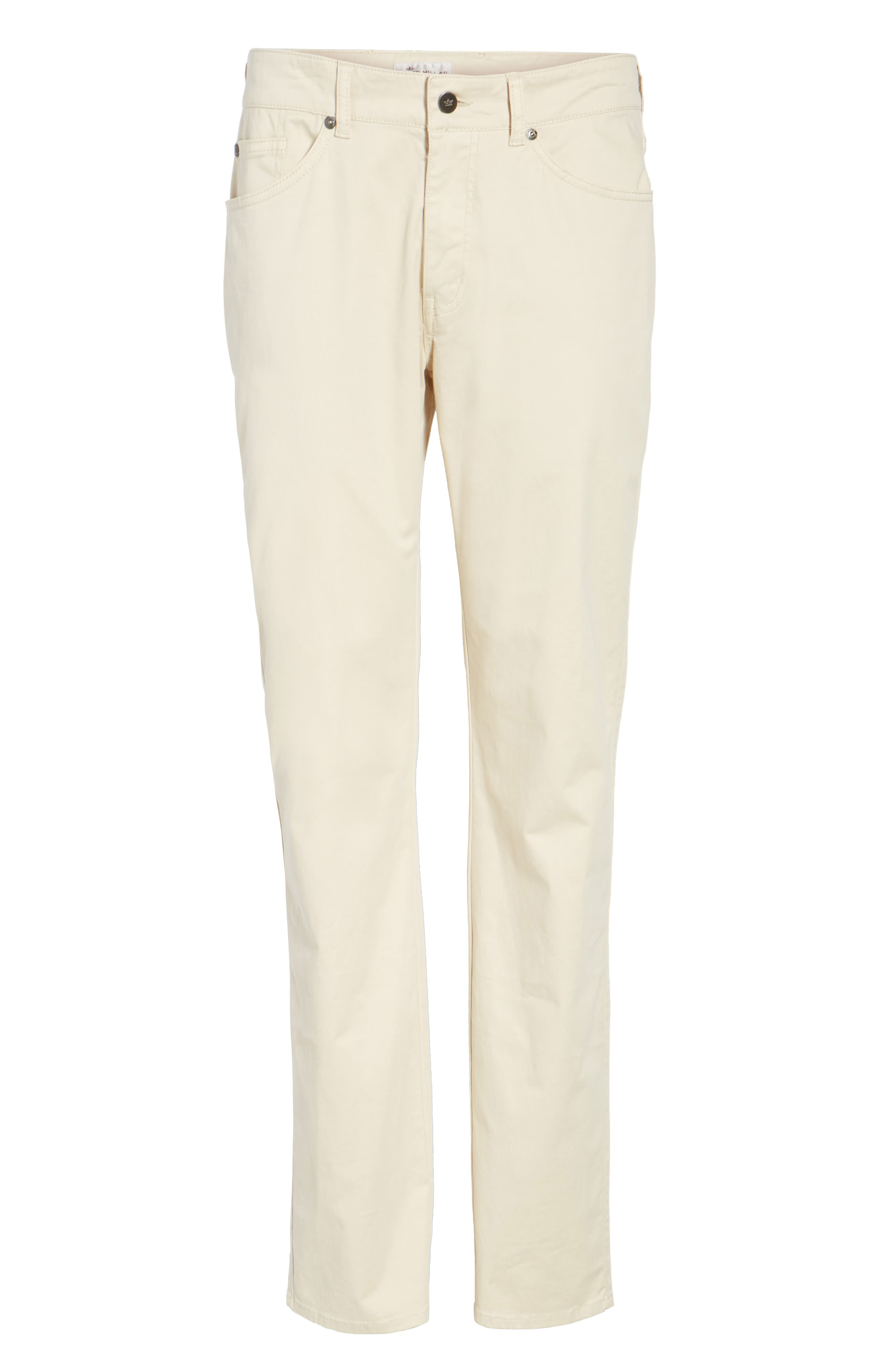 Stretch Sateen Five-Pocket Pants,                             Alternate thumbnail 6, color,                             Light Sand