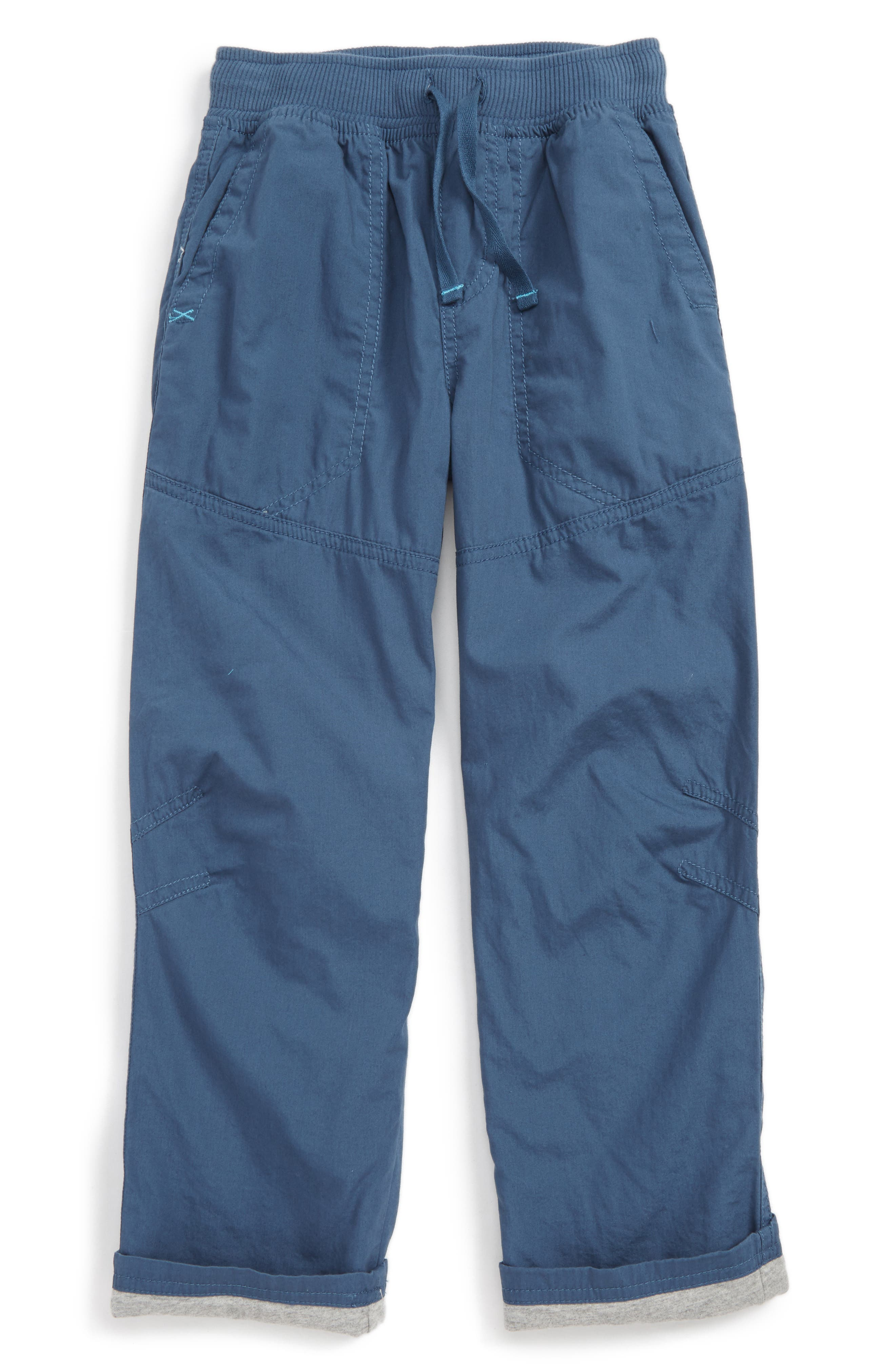 Jersey Lined Pants,                             Main thumbnail 1, color,                             Loch Blue