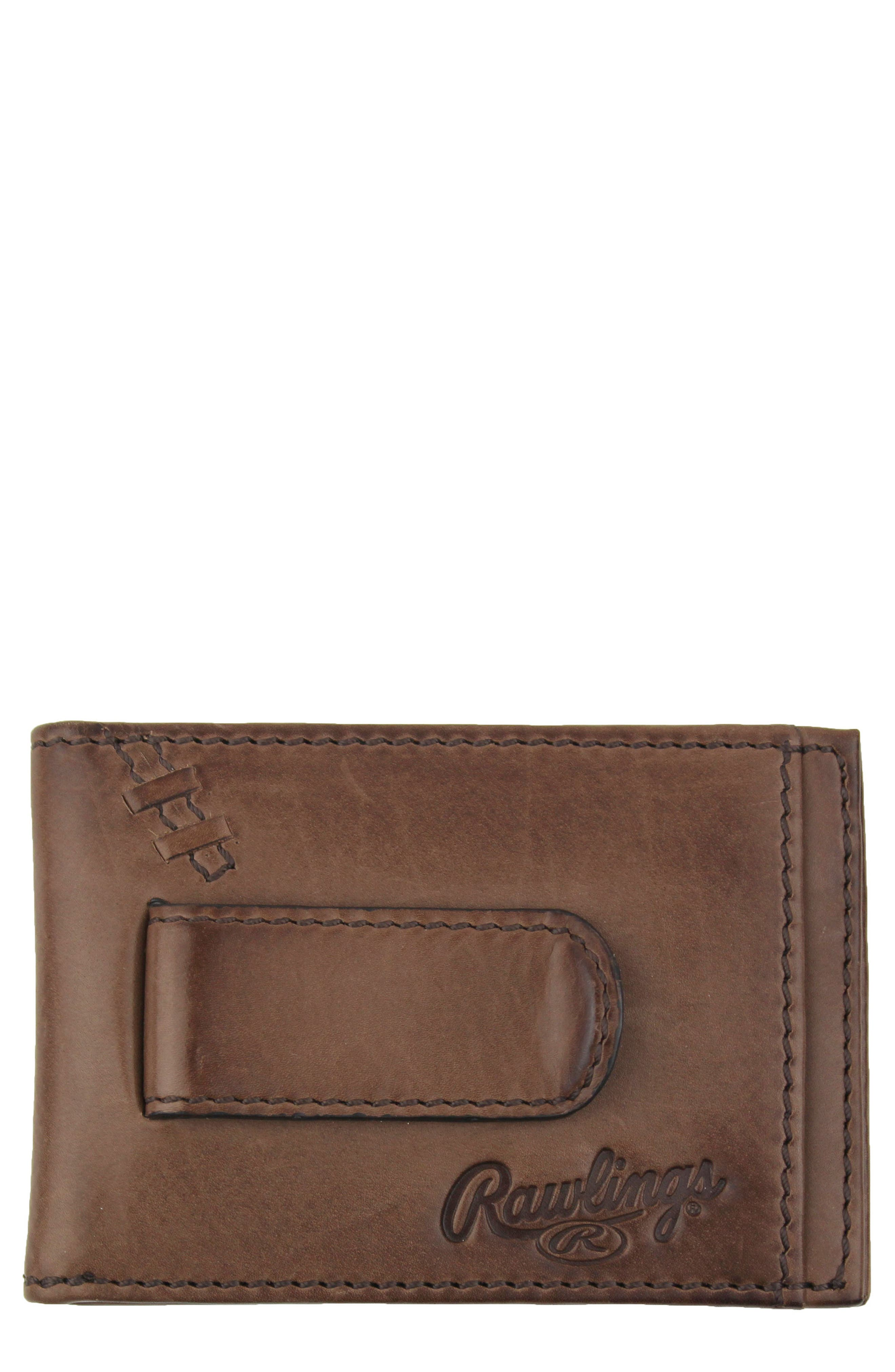 Legacy Leather Card Case with Money Clip,                         Main,                         color, Brown