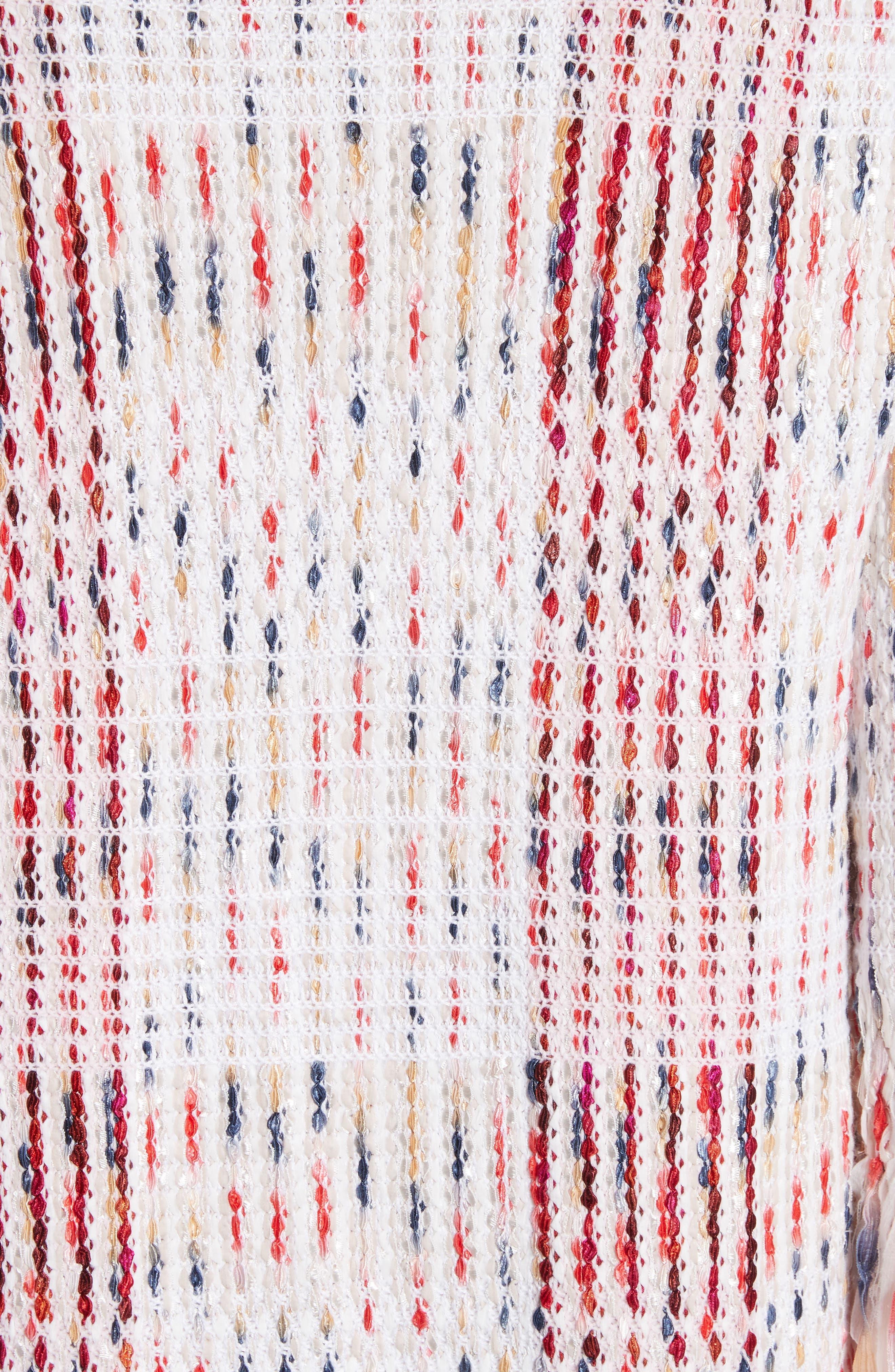 Ribbon Macro Plaid Cardigan,                             Alternate thumbnail 6, color,                             Blush Multi