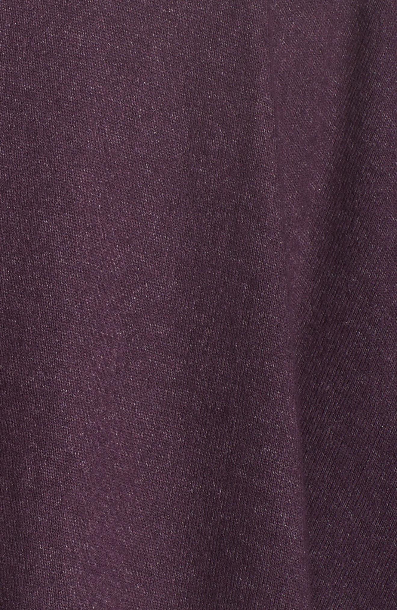 Retreat Sweater Knit Cardigan,                             Alternate thumbnail 6, color,                             Aubergine