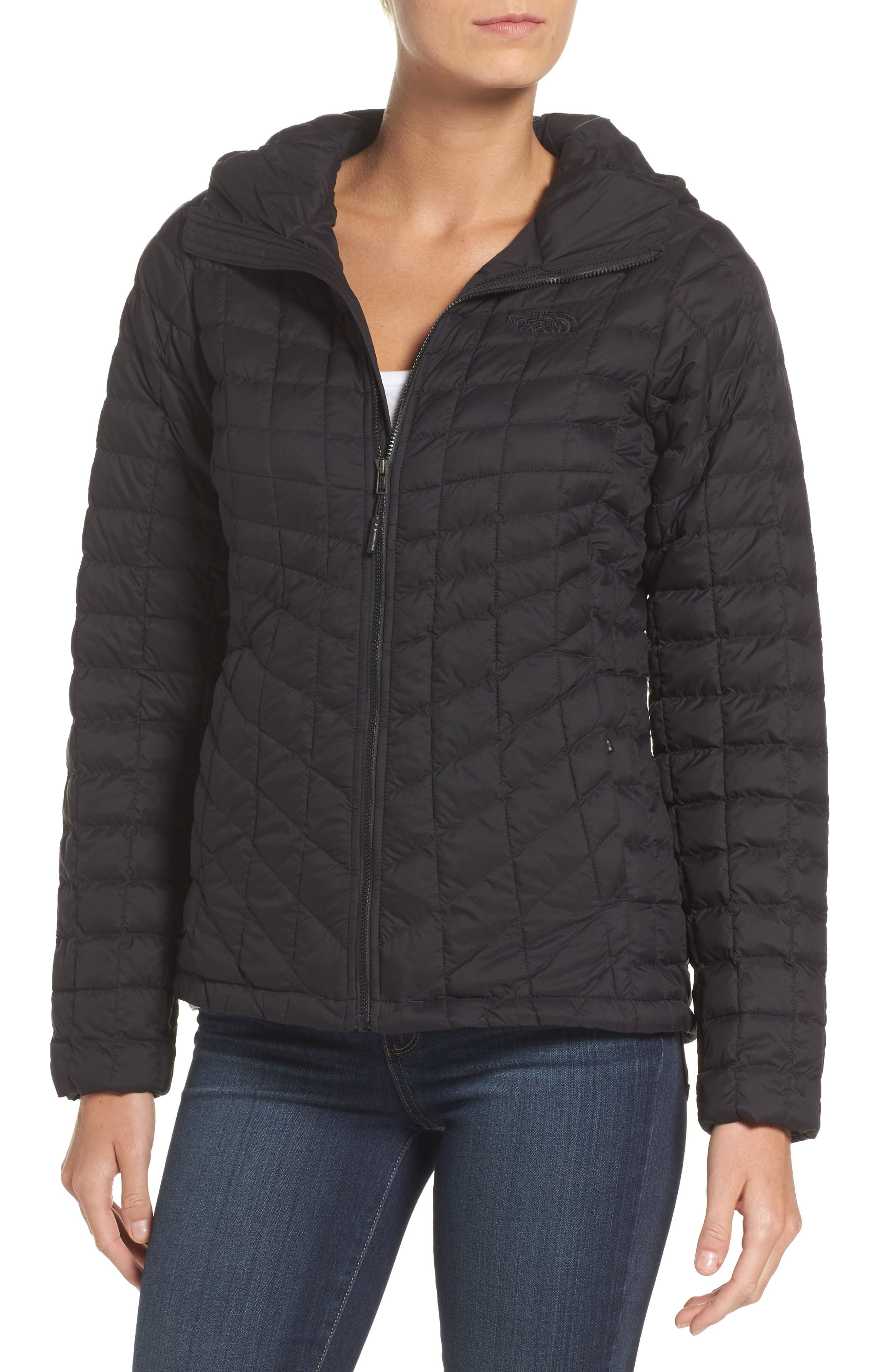 ThermoBall<sup>™</sup> Zip Hoodie,                             Main thumbnail 1, color,                             Tnf Black Matte