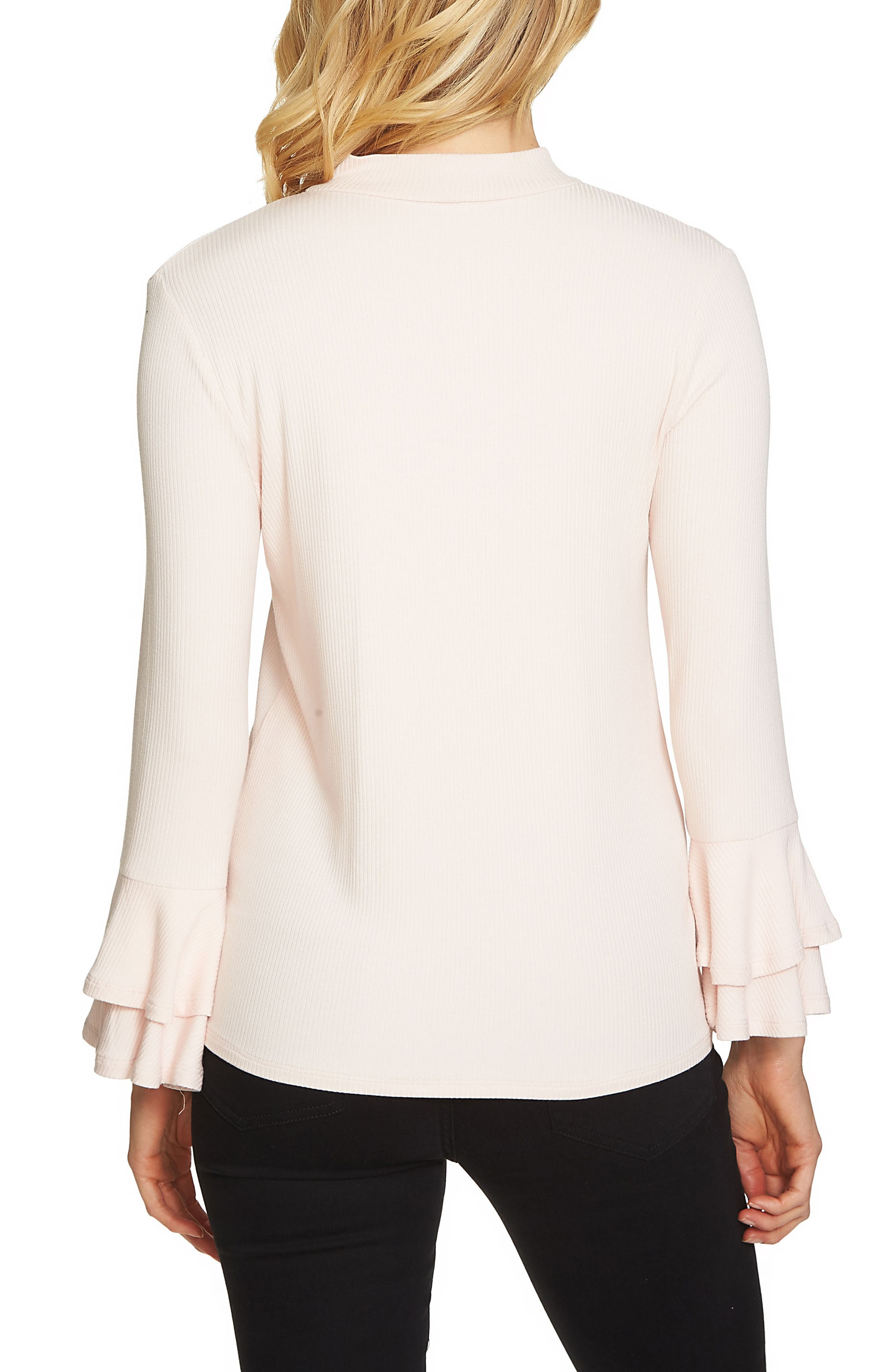 Bell Sleeve Top,                             Alternate thumbnail 2, color,                             Pink Opal