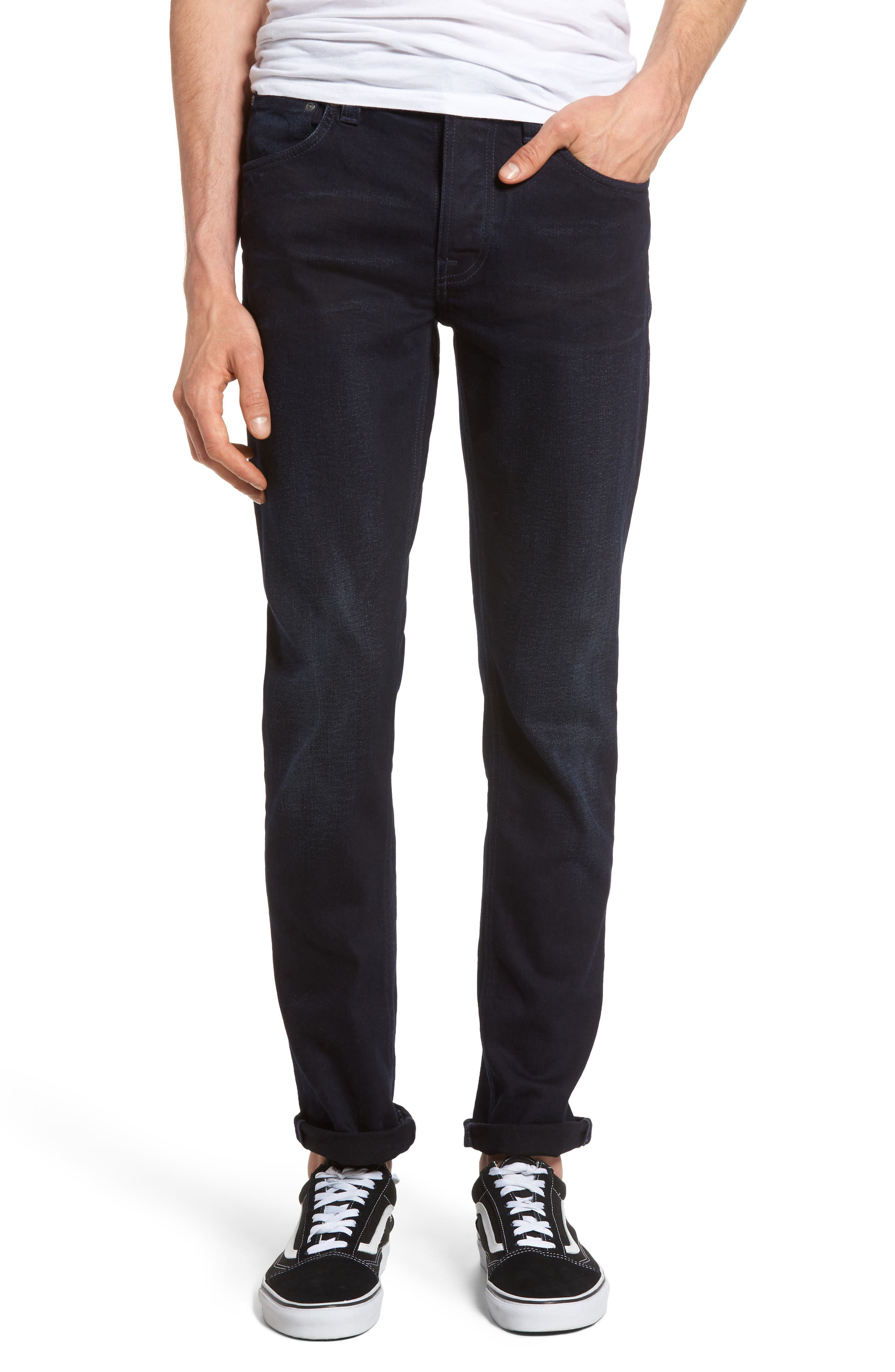 Nudie Jeans Grim Tim Slim Fit Jeans (Dark Shield)