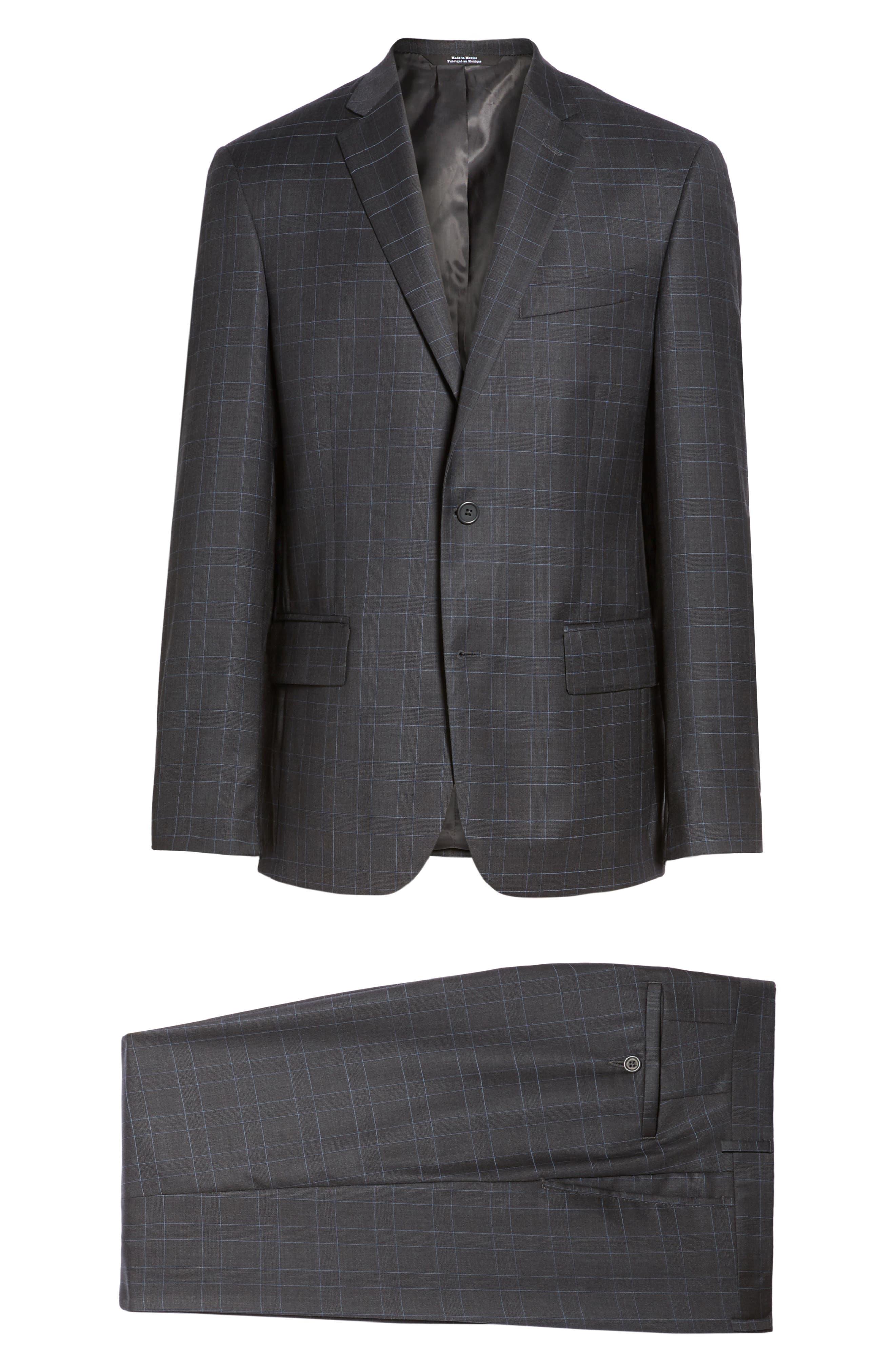Alternate Image 8  - Nordstrom Men's Shop Classic Fit Plaid Wool Suit