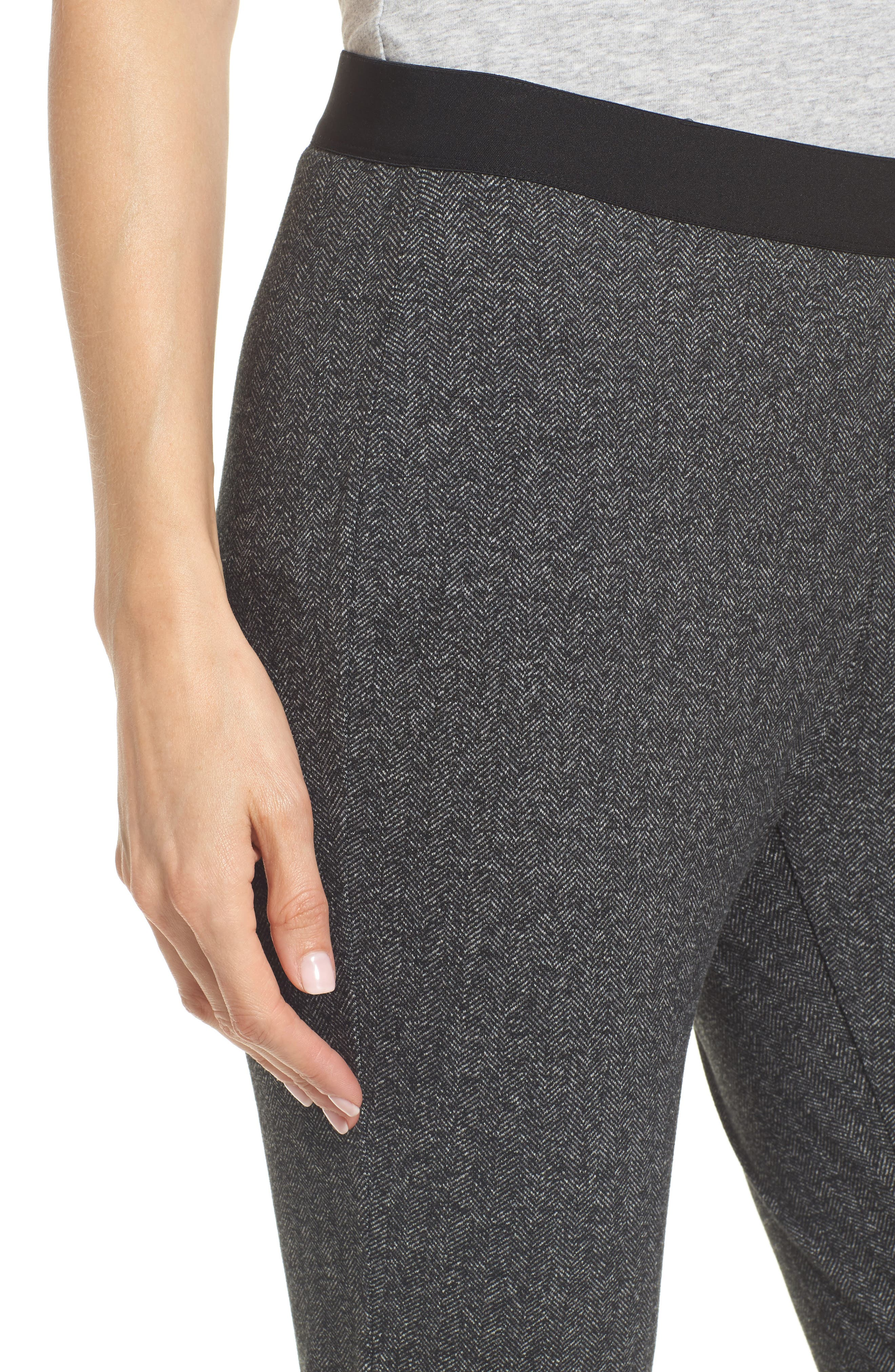 Herringbone Leggings,                             Alternate thumbnail 4, color,                             Charcoal