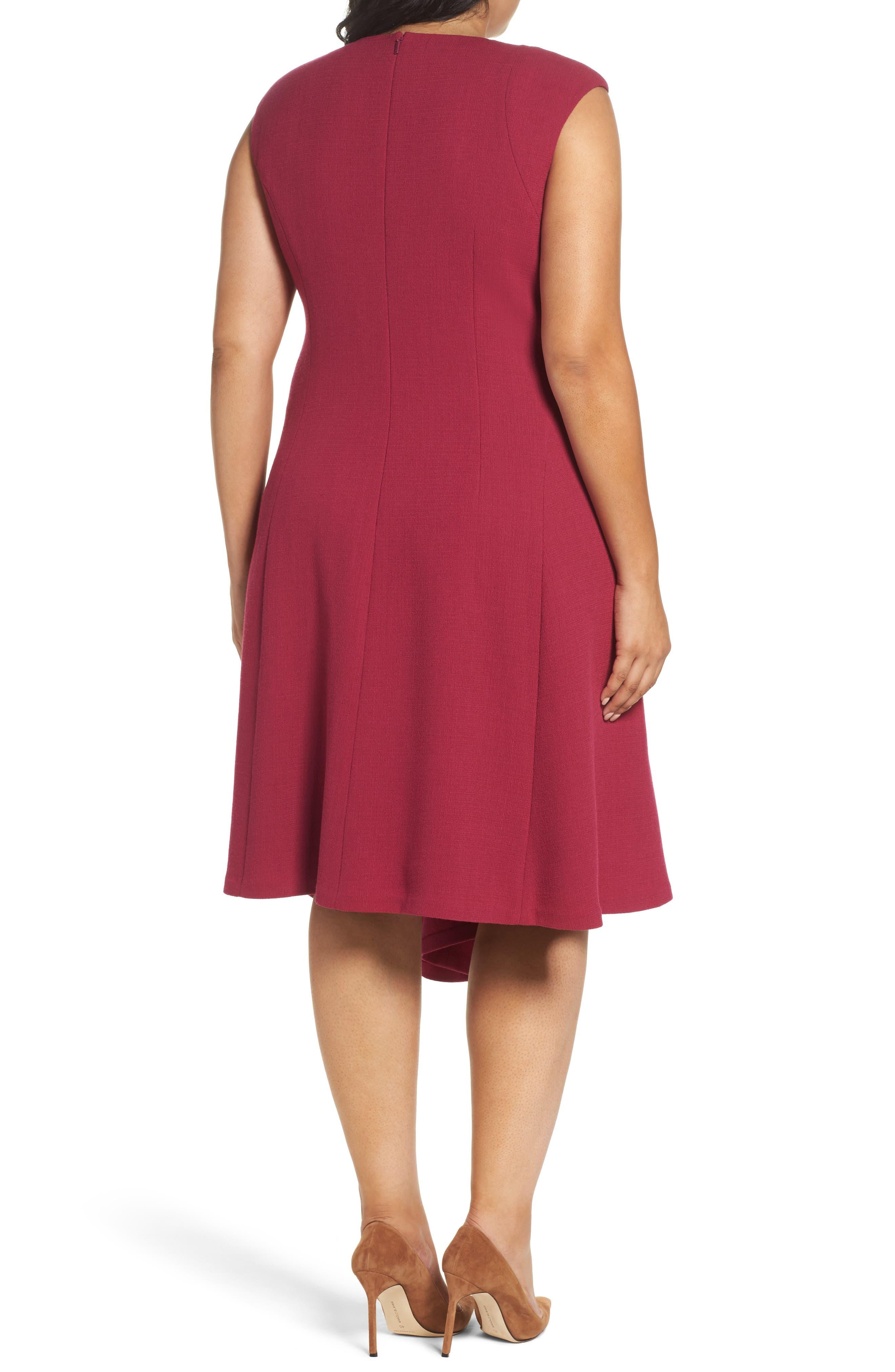 Alternate Image 2  - Lafayette 148 New York Aveena Wool Interlock Dress (Plus Size)