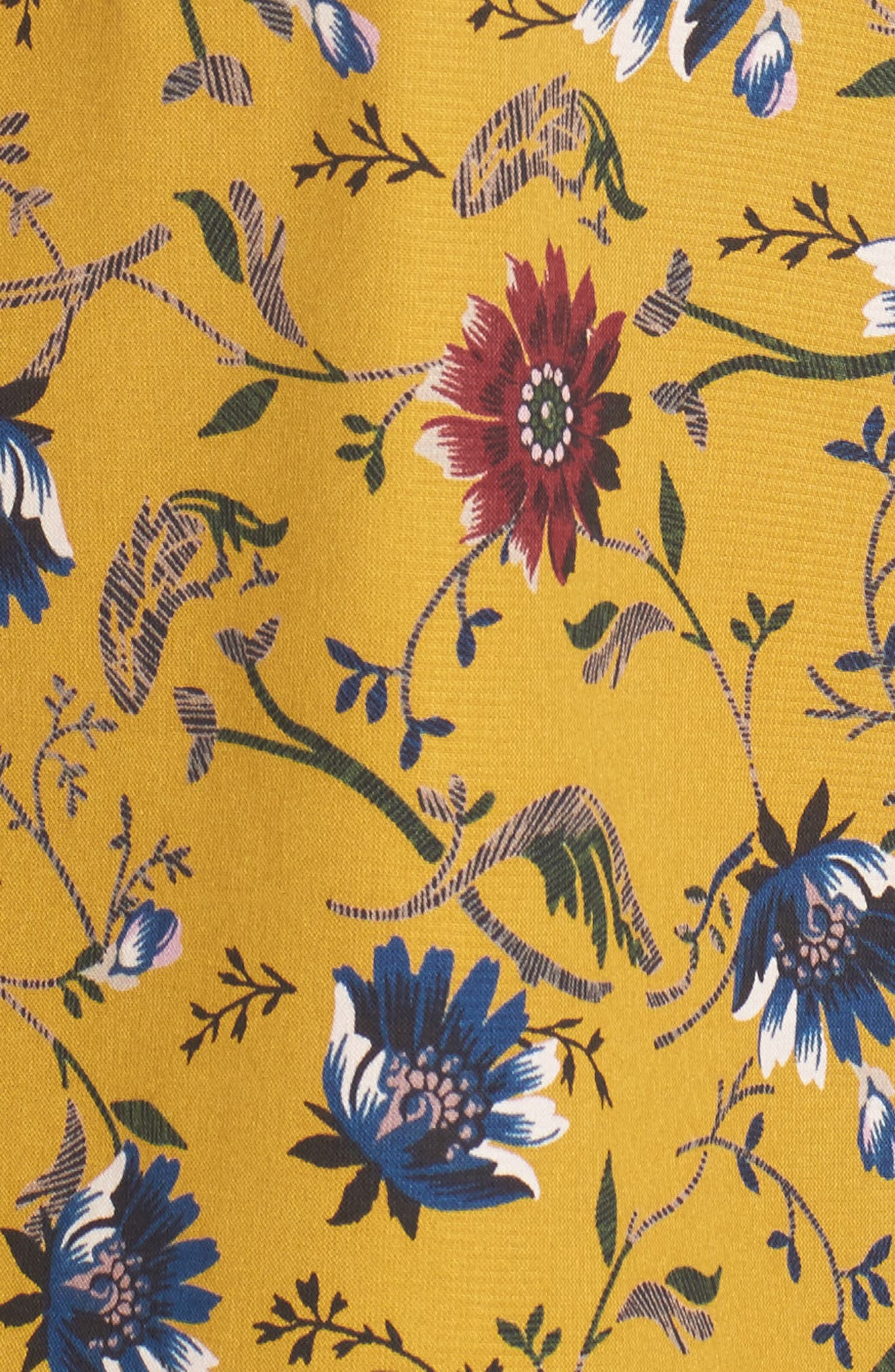 Danee Floral Top,                             Alternate thumbnail 5, color,                             Marigold/ Ivory