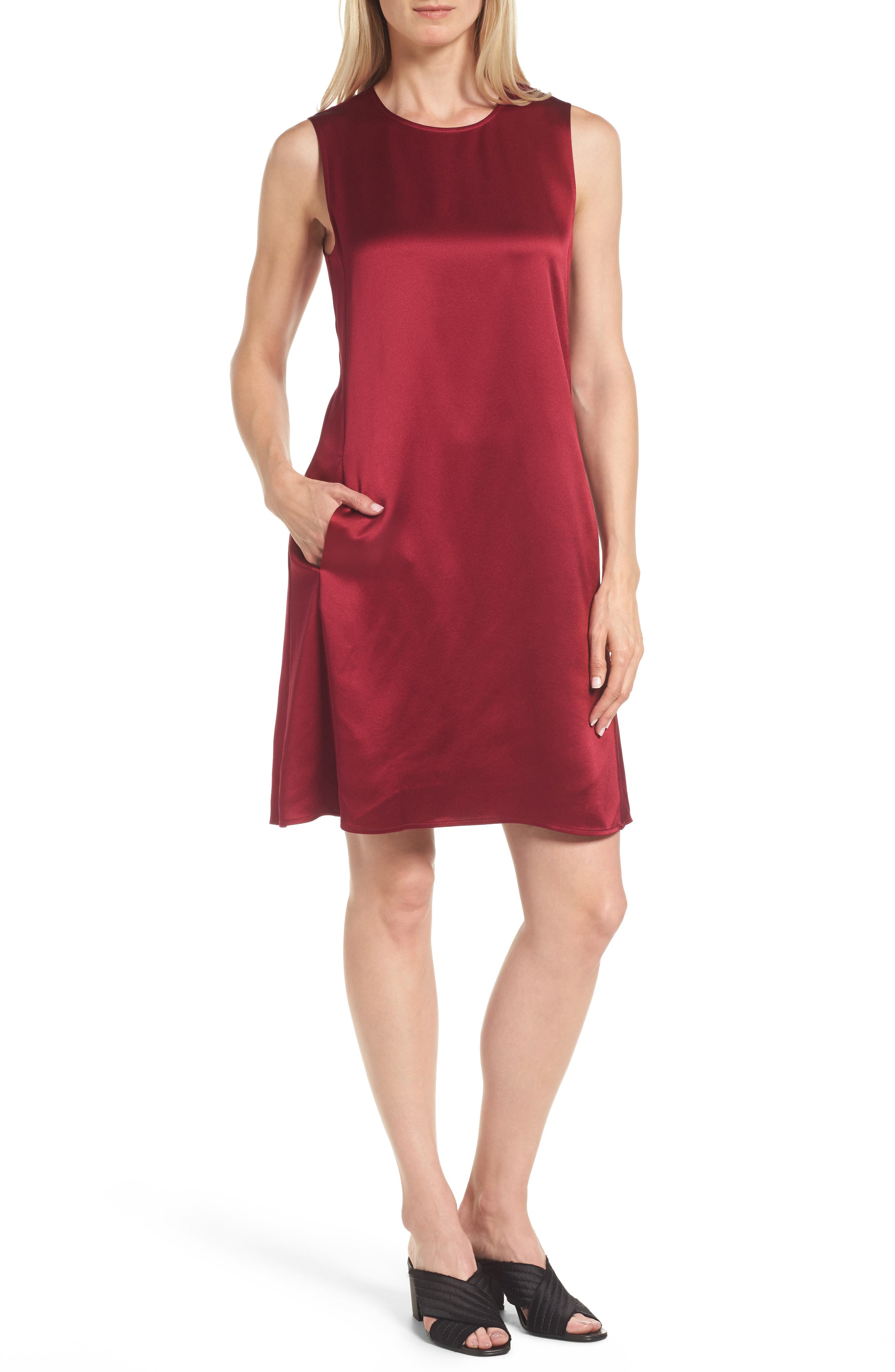 Alternate Image 1 Selected - Eileen Fisher Silk Shift Dress