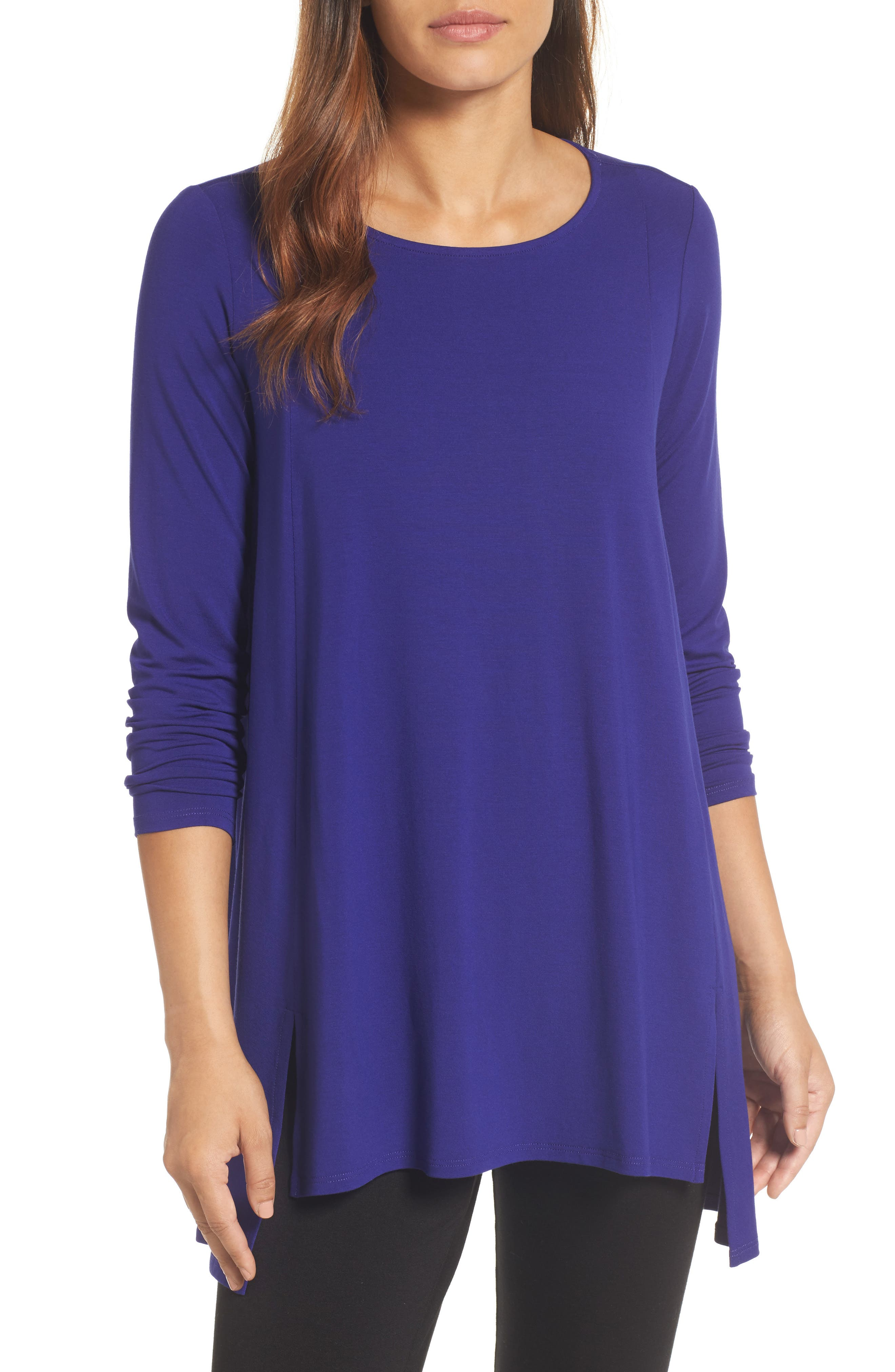 Main Image - Eileen Fisher Scoop Neck Tunic