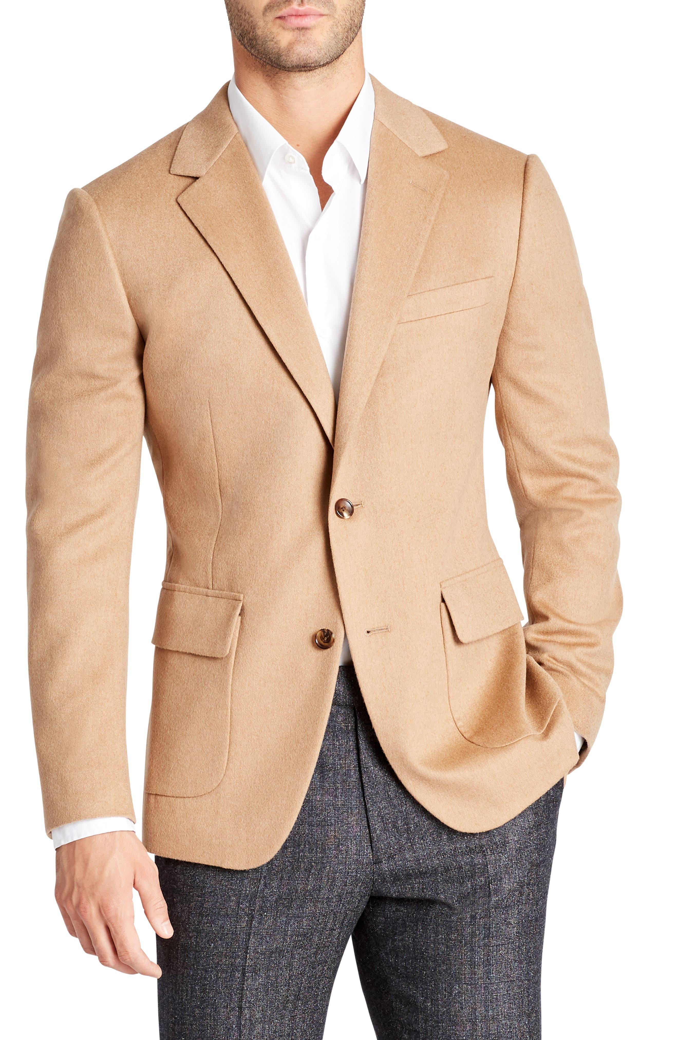 Slim Fit Camel Hair Blazer,                         Main,                         color, Camel Hair