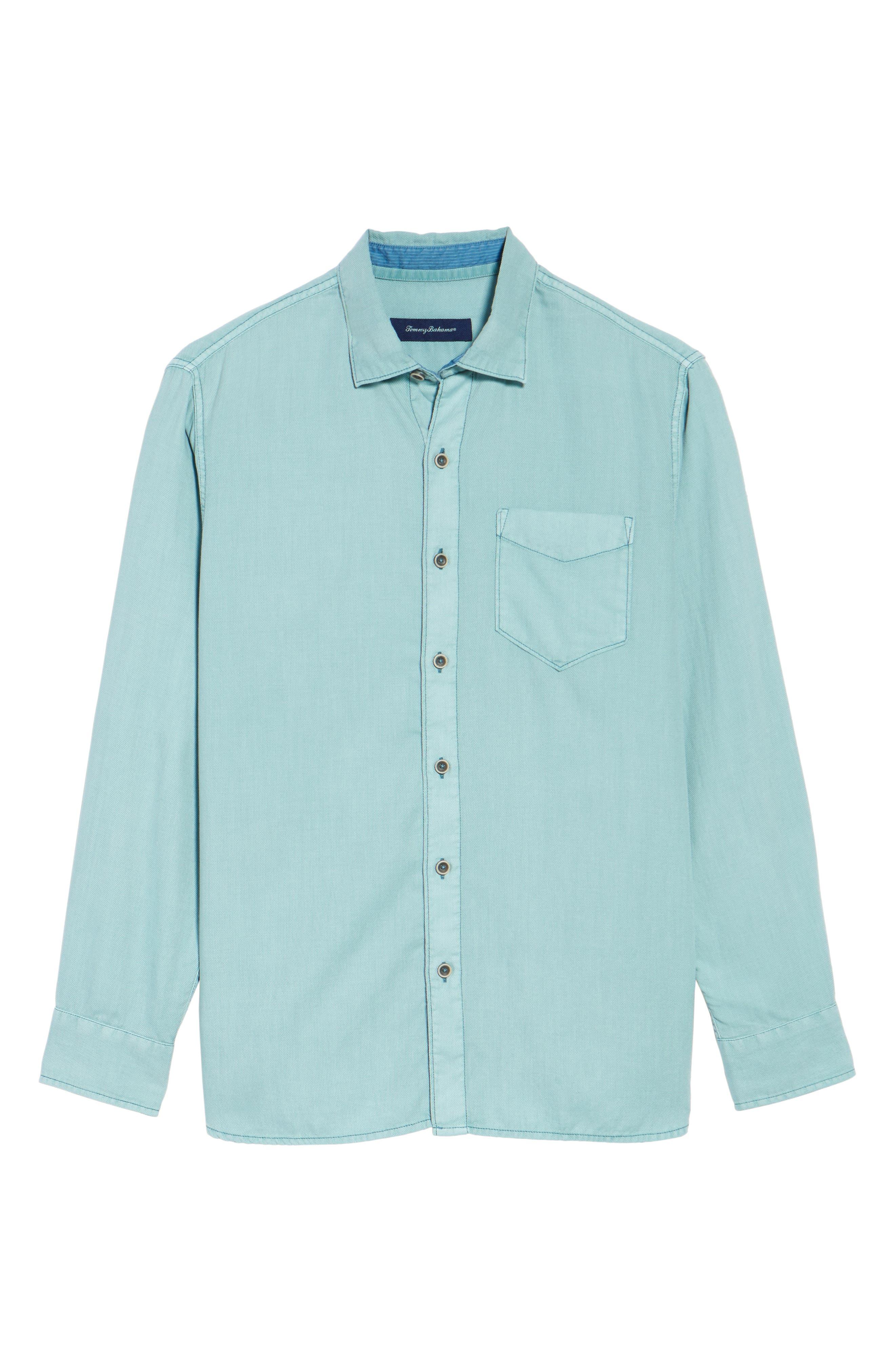 Alternate Image 6  - Tommy Bahama Dobby Dylan Sport Shirt