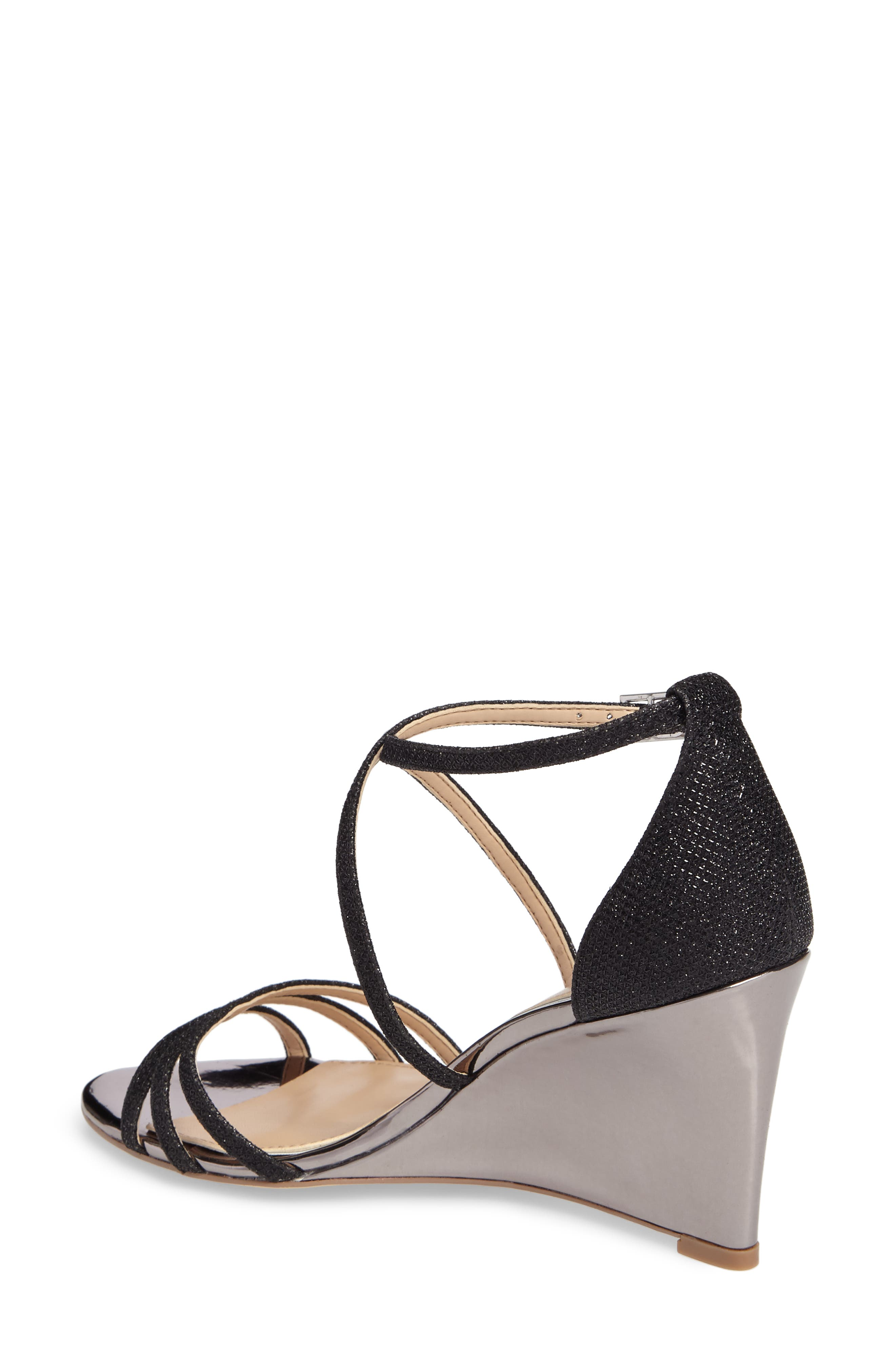 Alternate Image 2  - Jewel Badgley Mischka Hunt Glittery Wedge Sandal (Women)