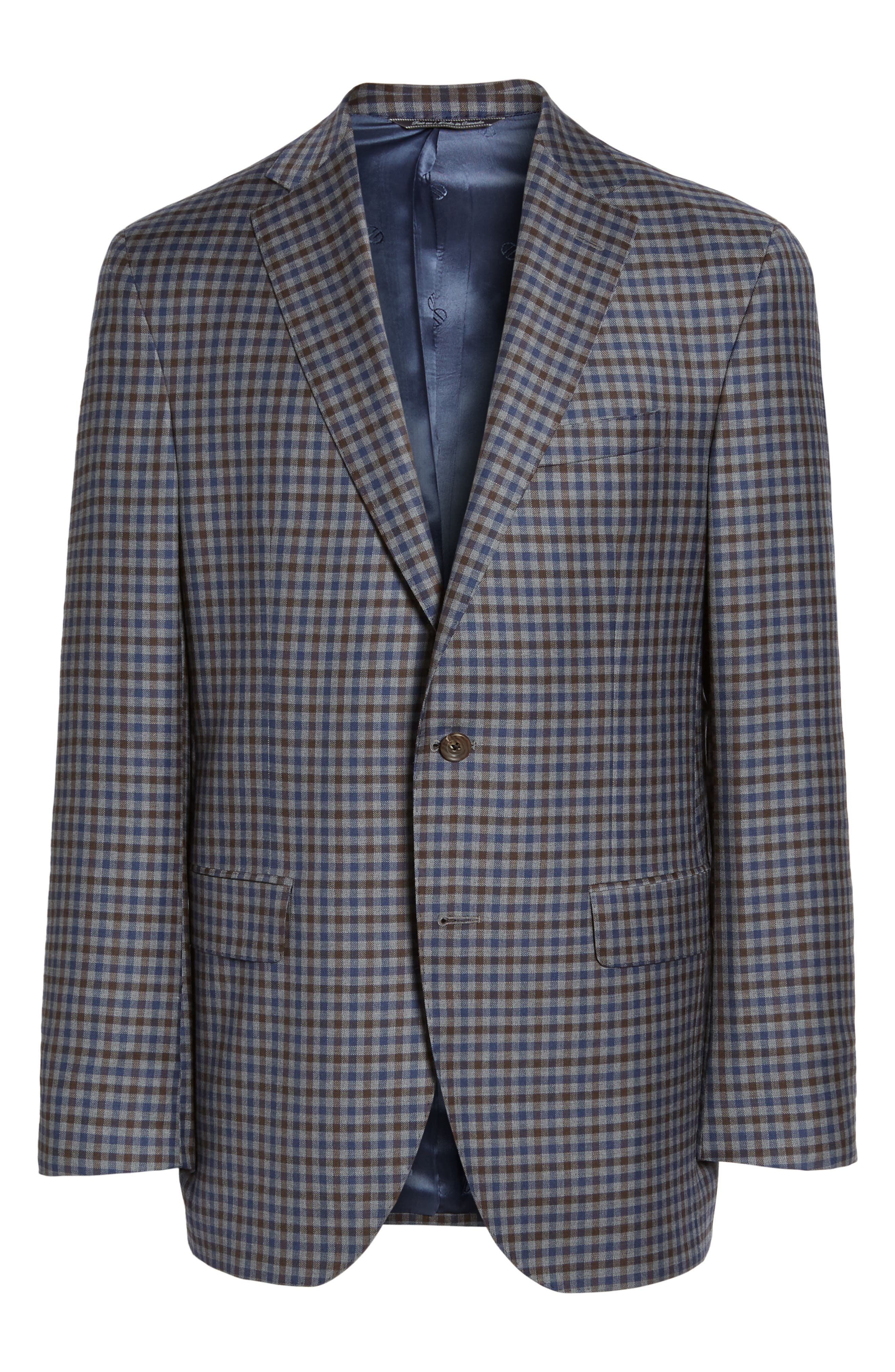 Arnold Classic Fit Check Wool Sport Coat,                             Alternate thumbnail 6, color,                             Grey