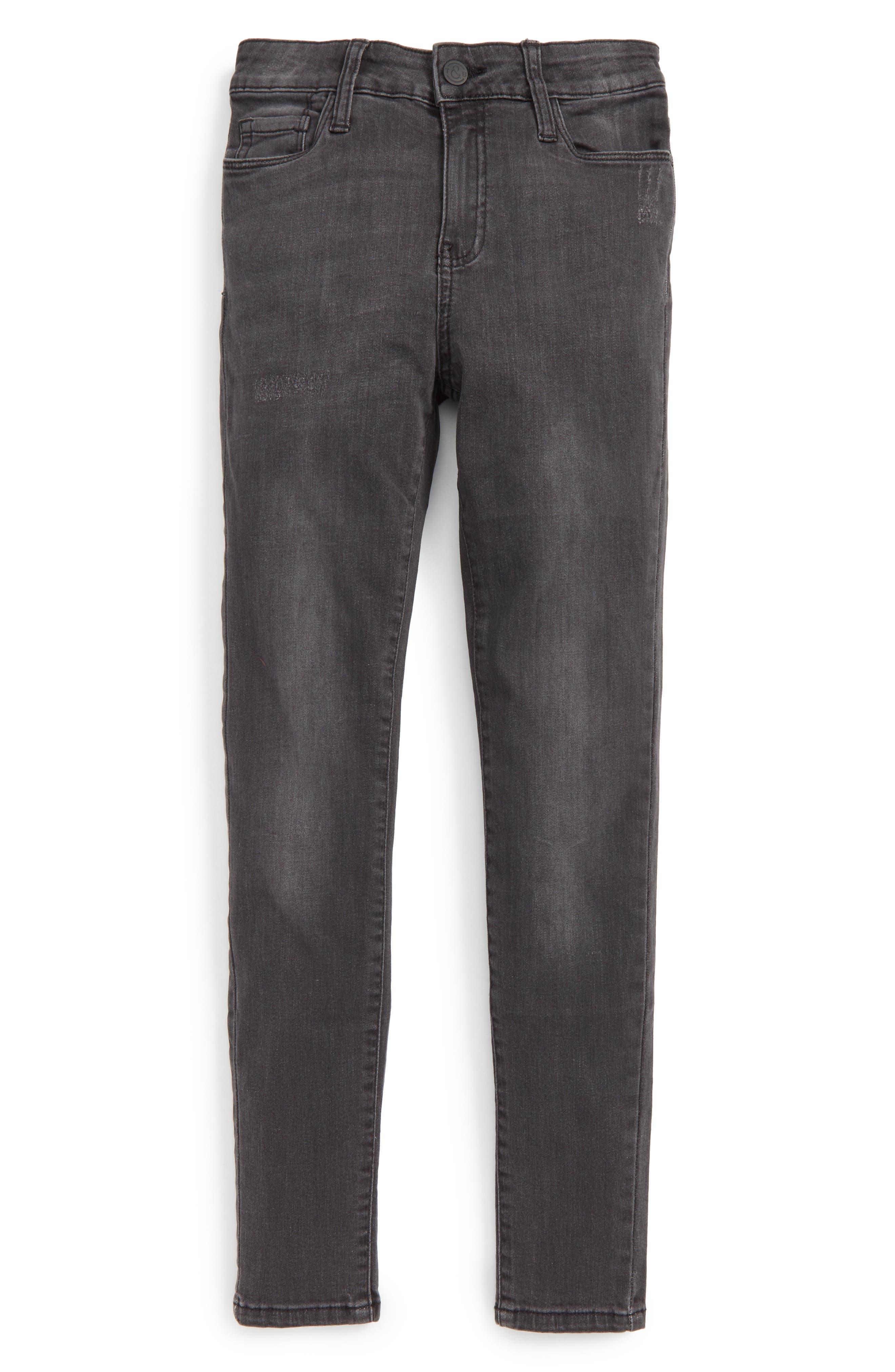 Skinny Jeans,                         Main,                         color, Washed Black