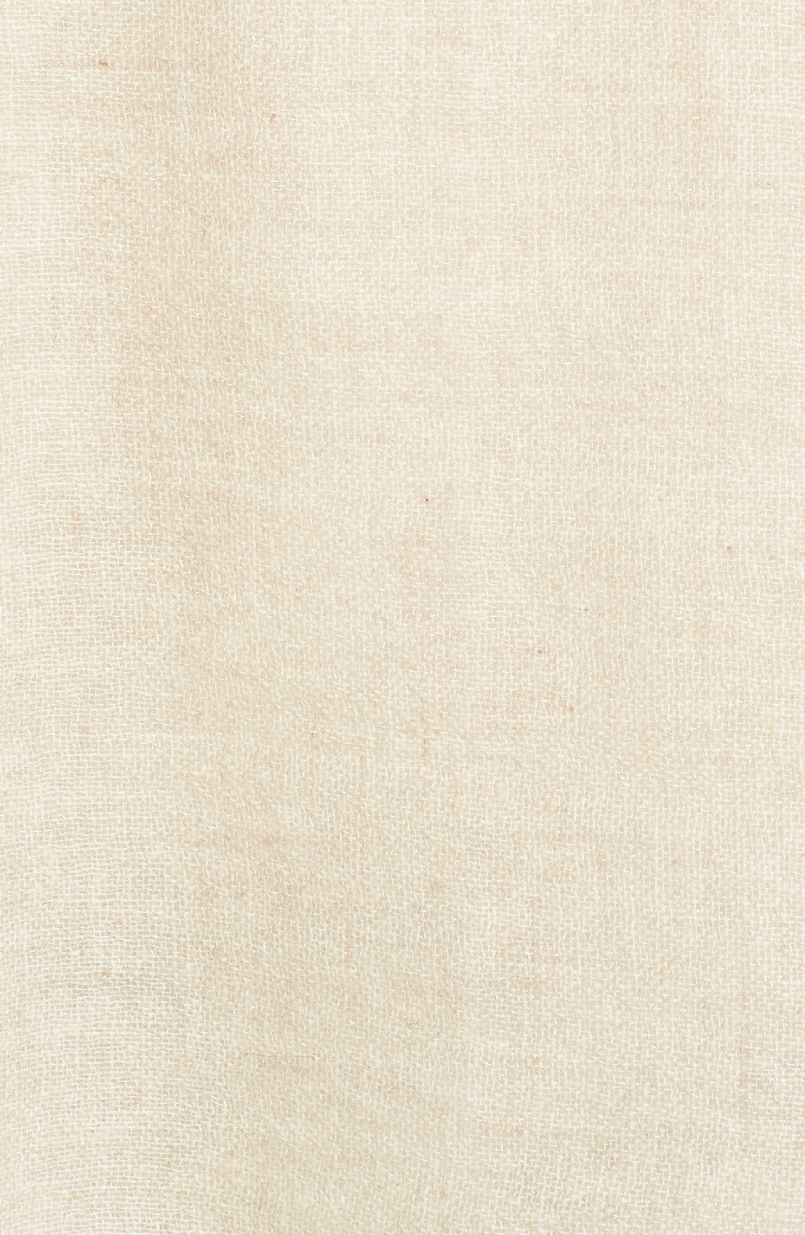 Caslon Dip Dye Cashmere Wrap,                             Alternate thumbnail 5, color,                             Beige Combo