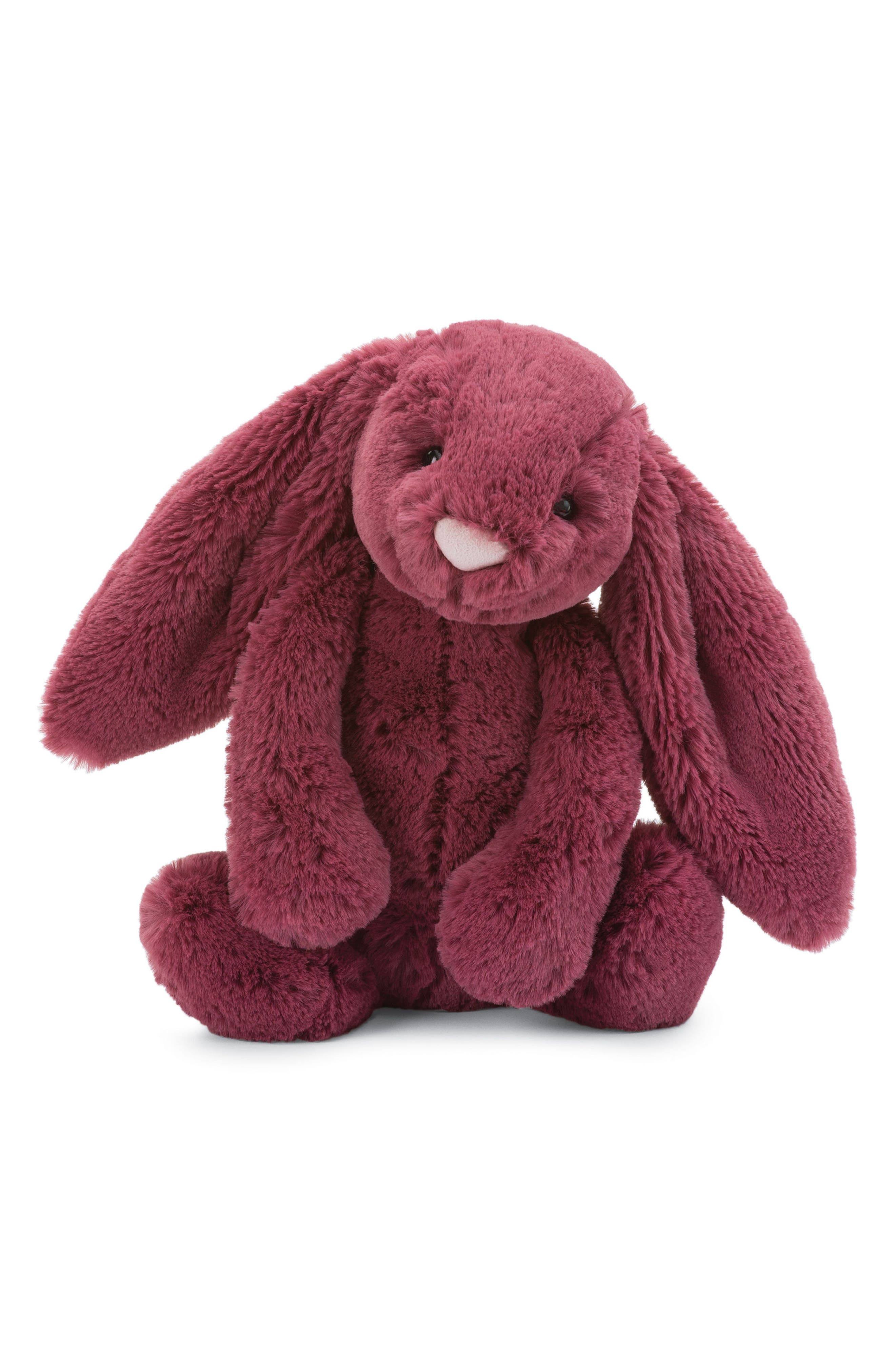 Bashful Berry Bunny Stuffed Animal,                         Main,                         color, Berry