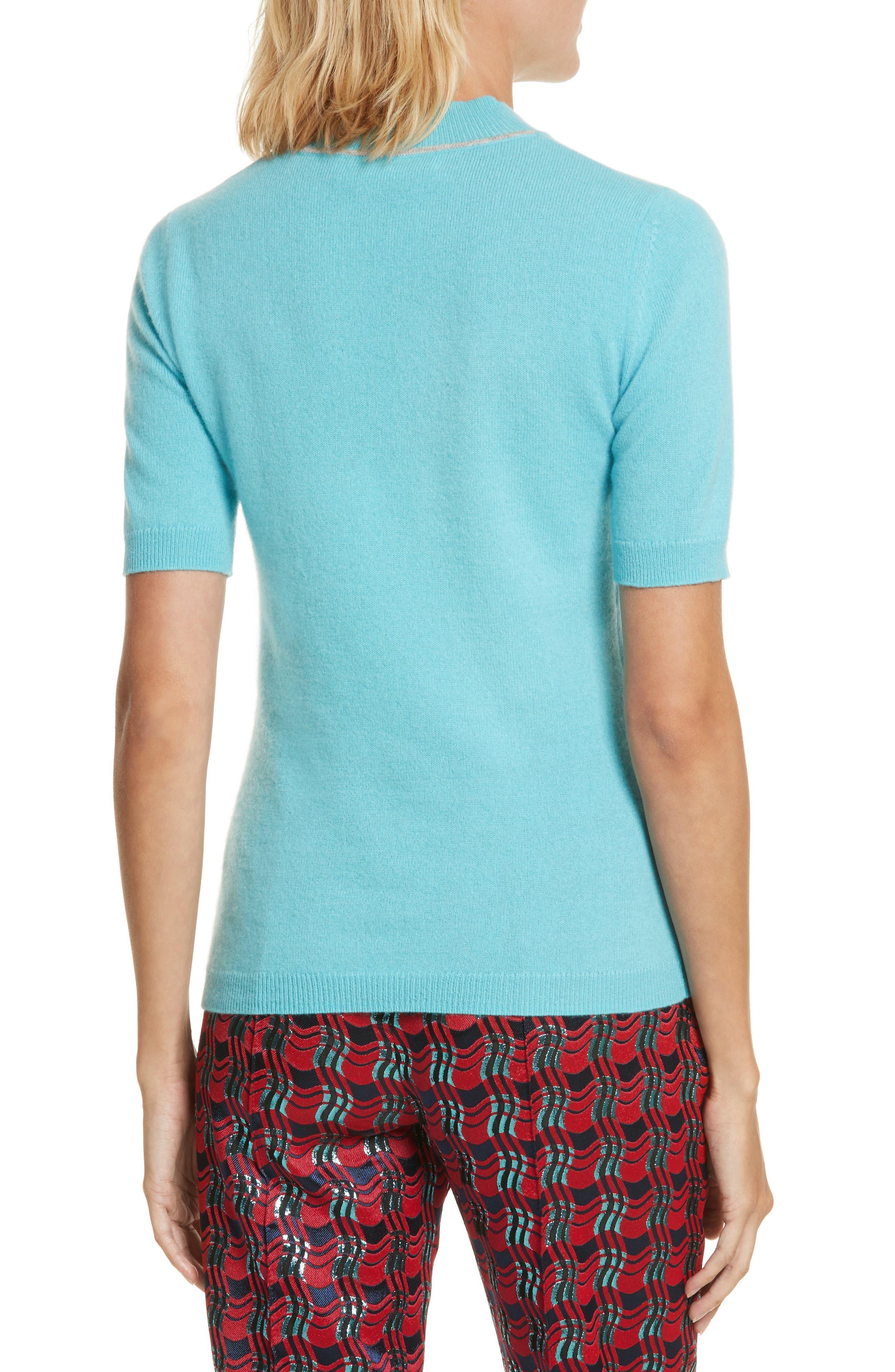Alternate Image 2  - Diane von Furstenberg Mock Neck Cashmere Sweater