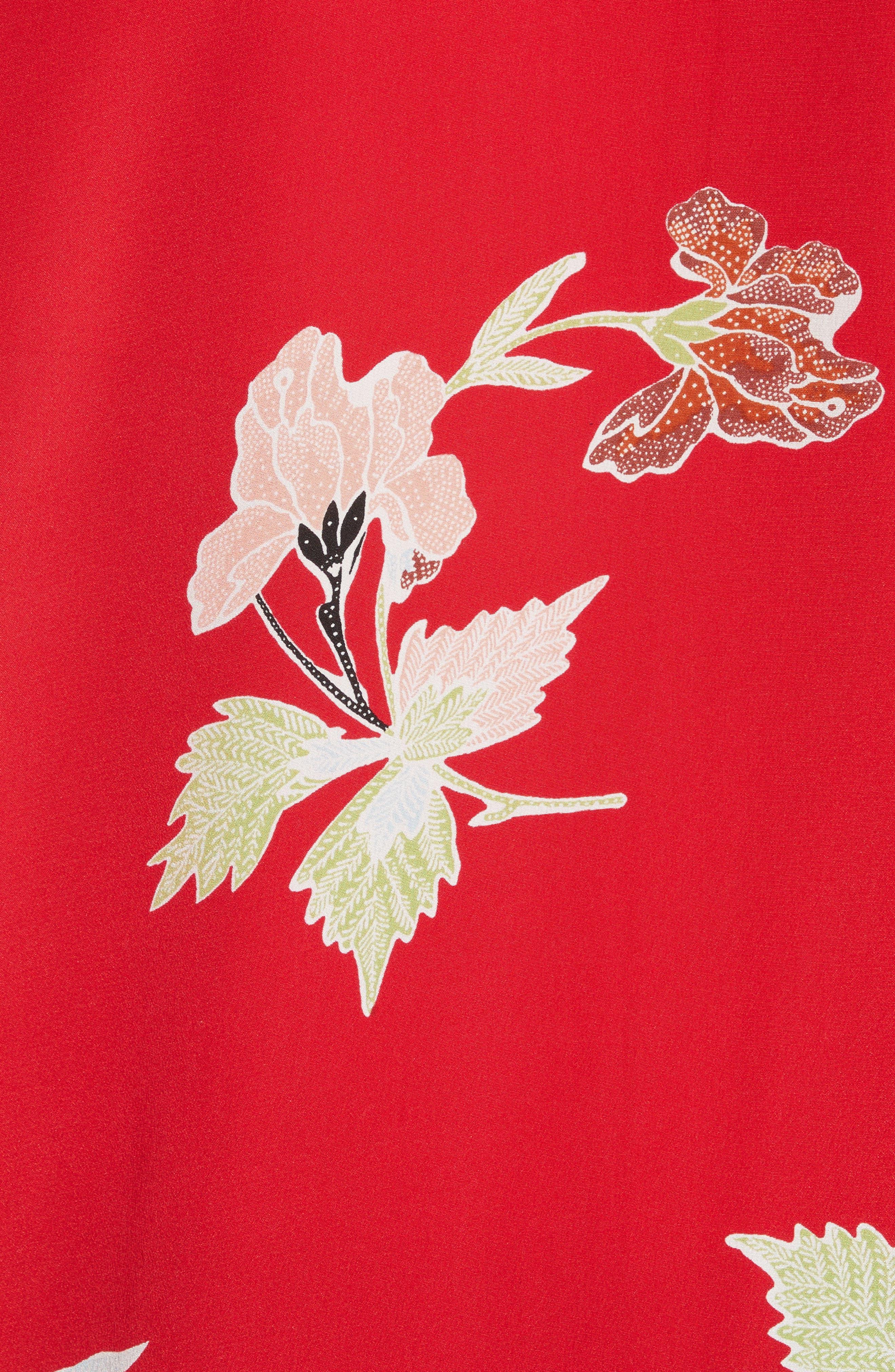 Alternate Image 5  - Diane von Furstenberg Bell Sleeve Crossover Silk Blouse