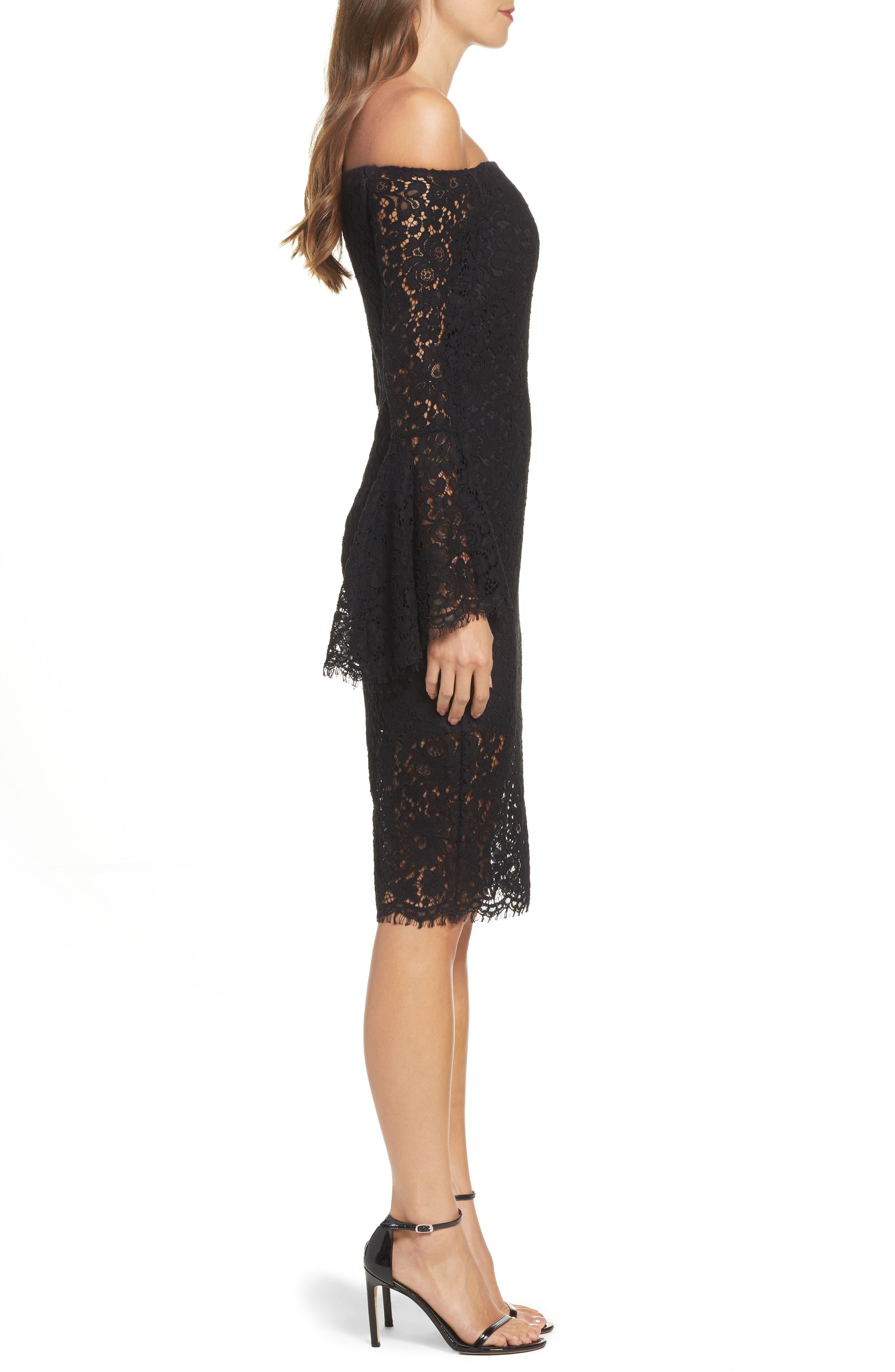 Alternate Image 3  - Bardot Solange Corded Lace Sheath Dress