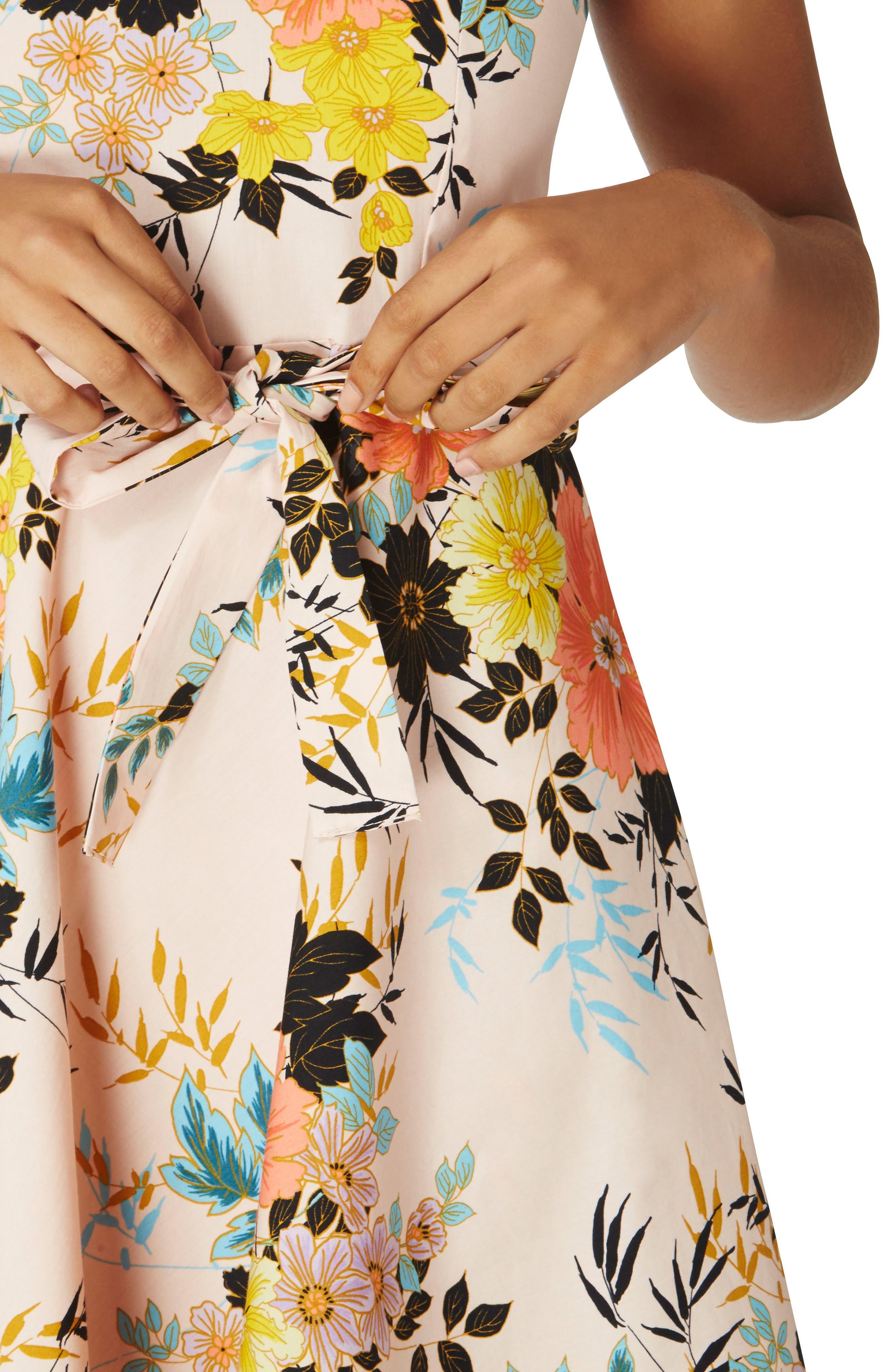 Alternate Image 3  - Dorothy Perkins Floral Poplin Wrap Dress