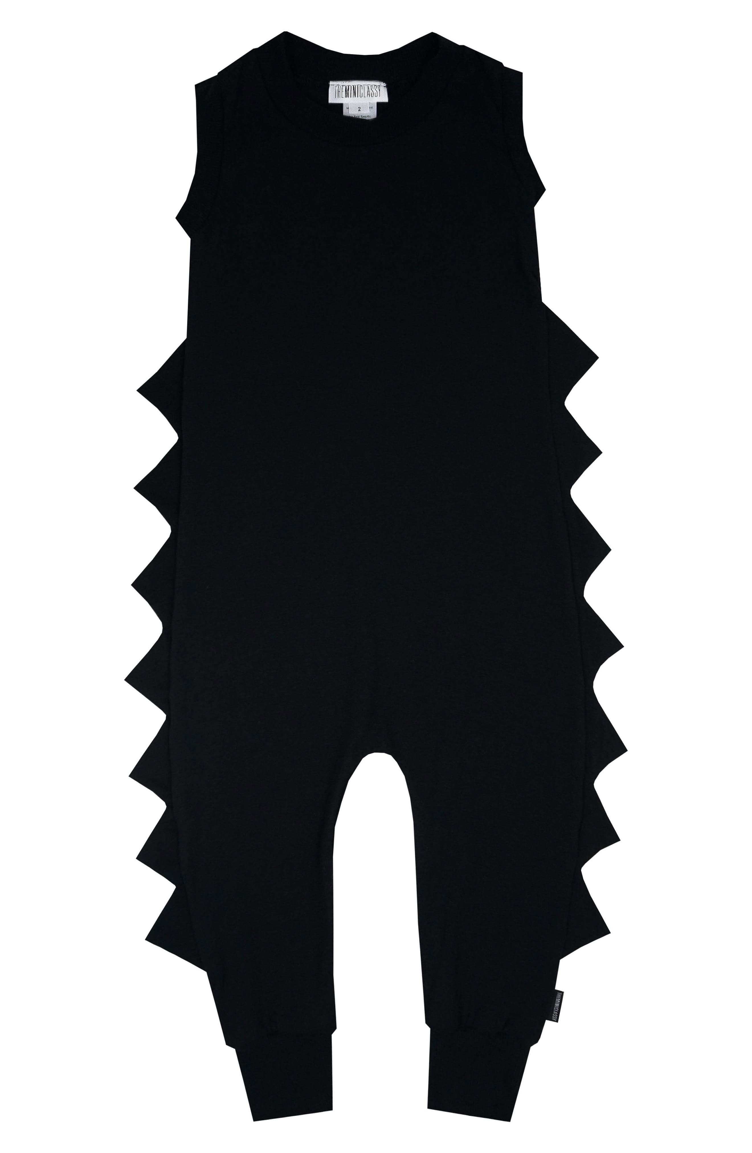 Dino Overalls,                         Main,                         color, Black