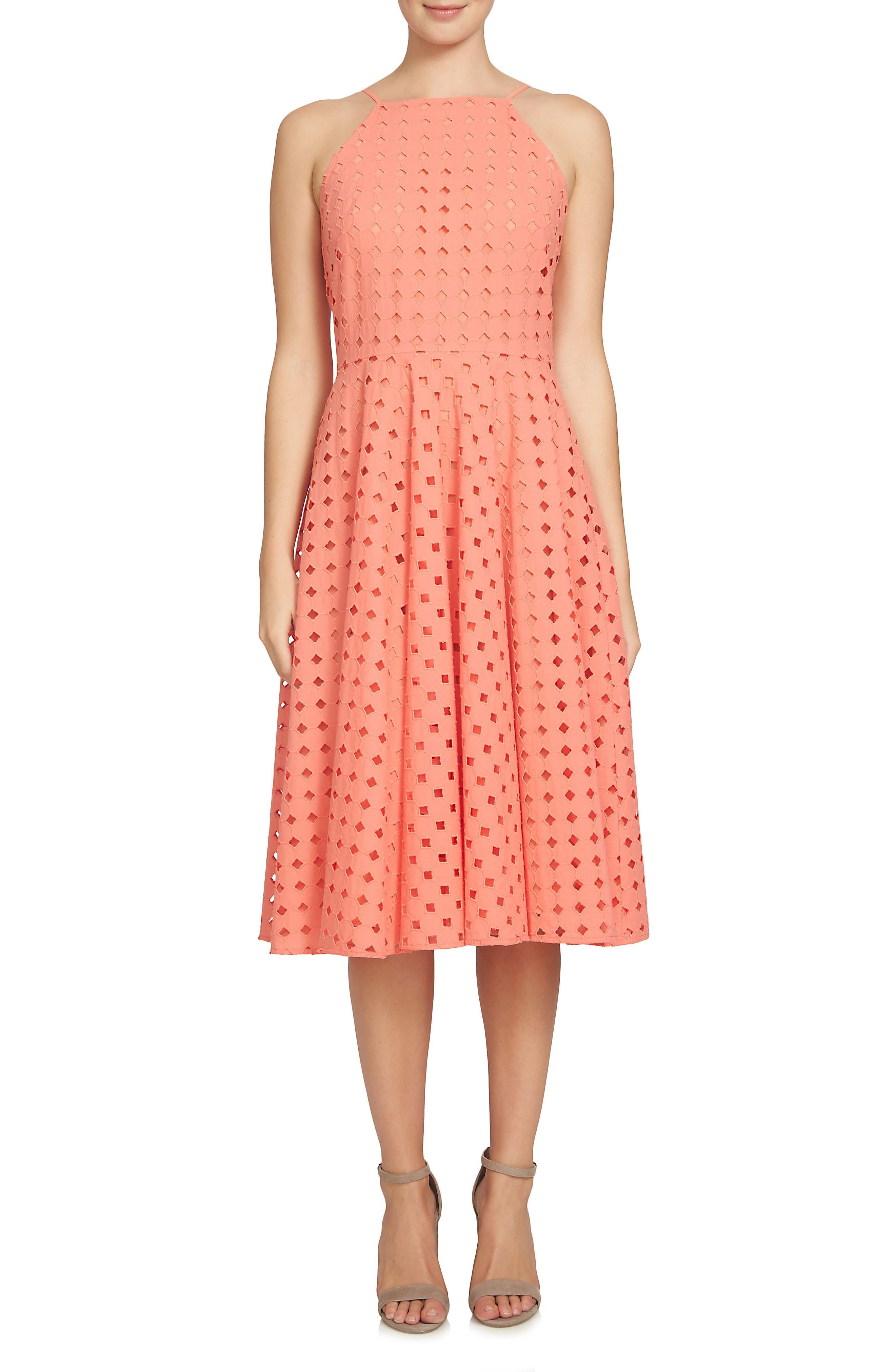 Alternate Image 1 Selected - CeCe Bella Fit & Flare Dress (Regular & Petite)