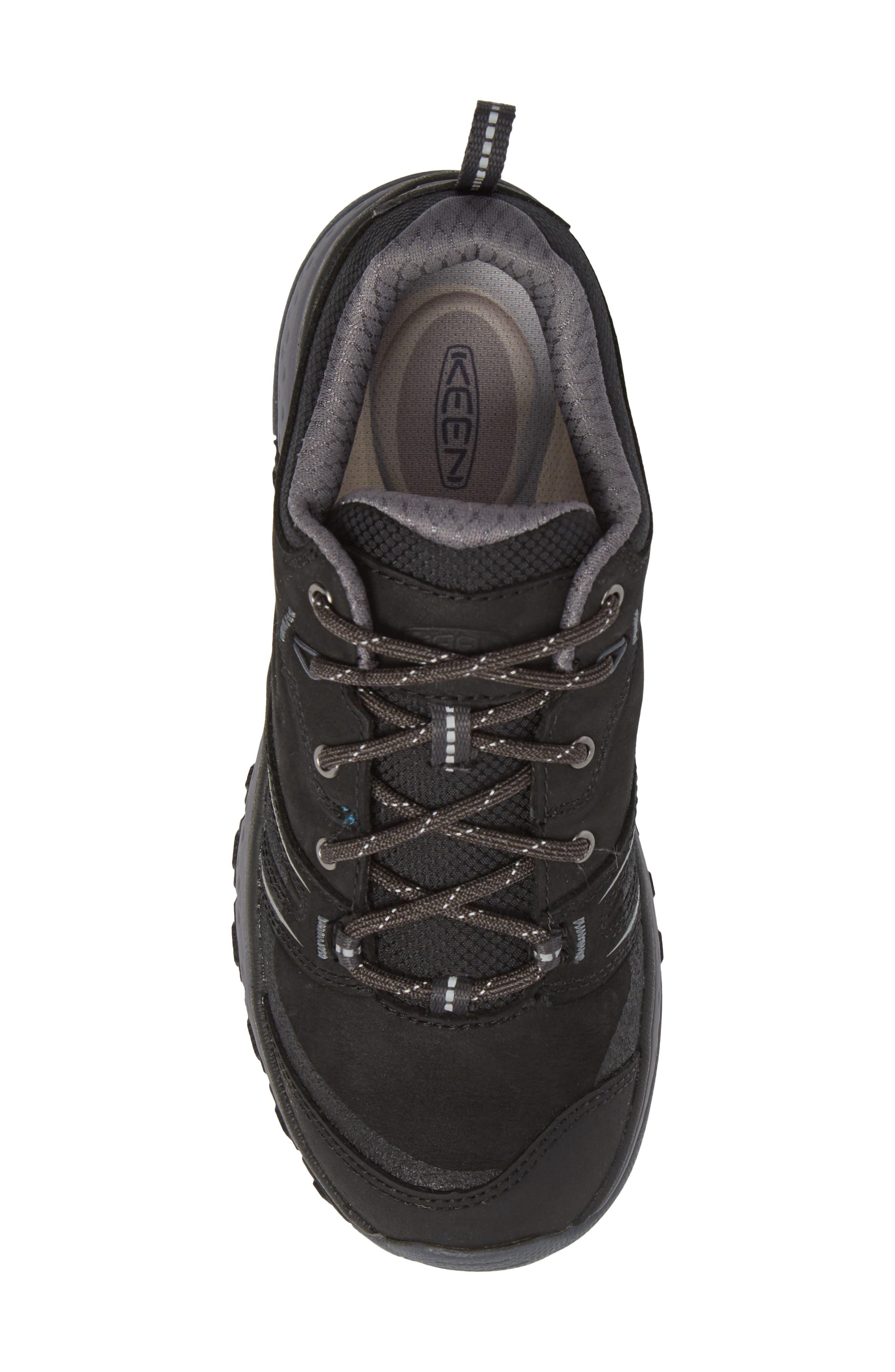 Terradora Waterproof Hiking Shoe,                             Alternate thumbnail 5, color,                             Black/ Steel Grey Nubuck