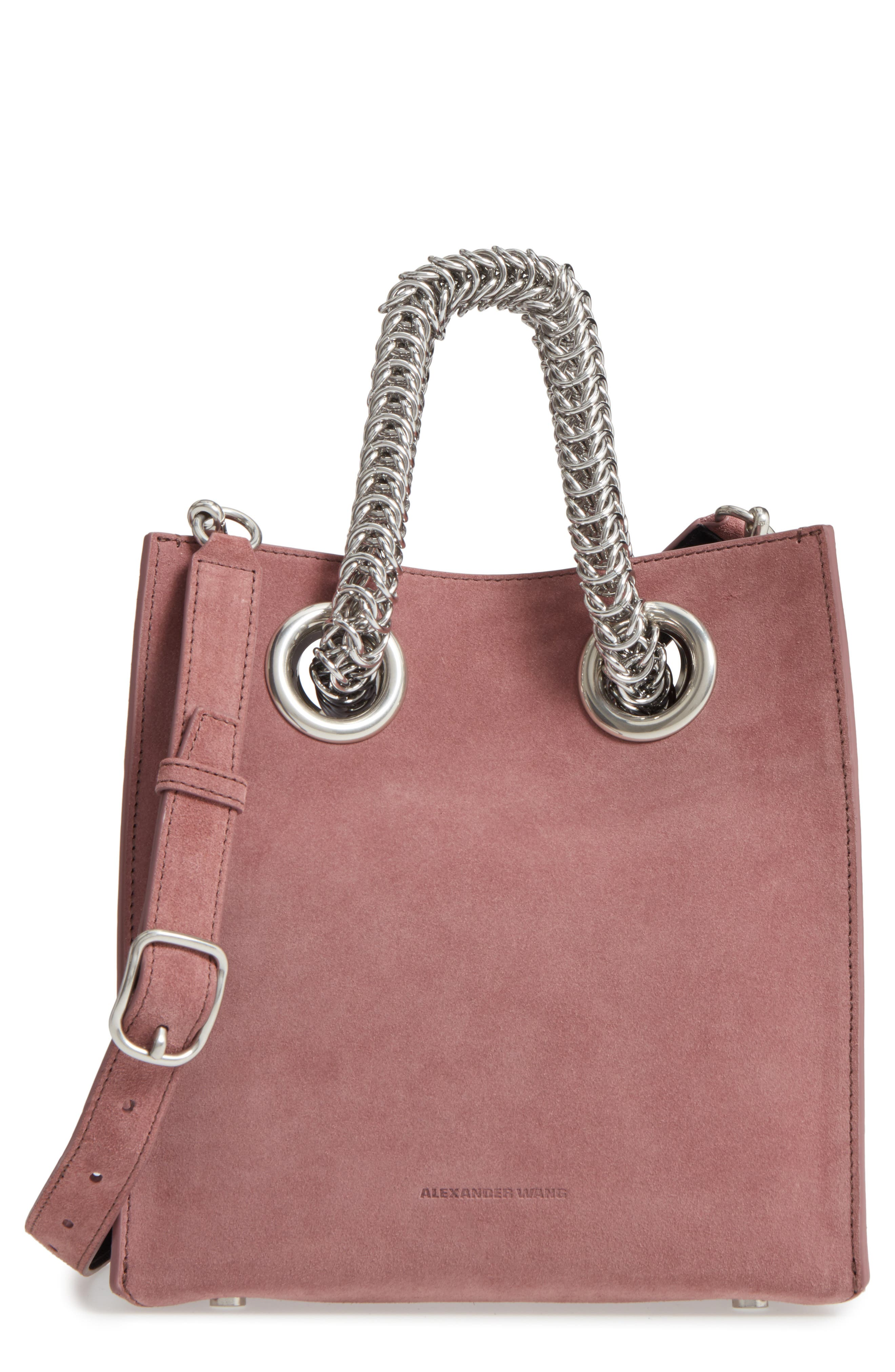 Alexander Wang Genesis Box Chain Square Suede Shopper