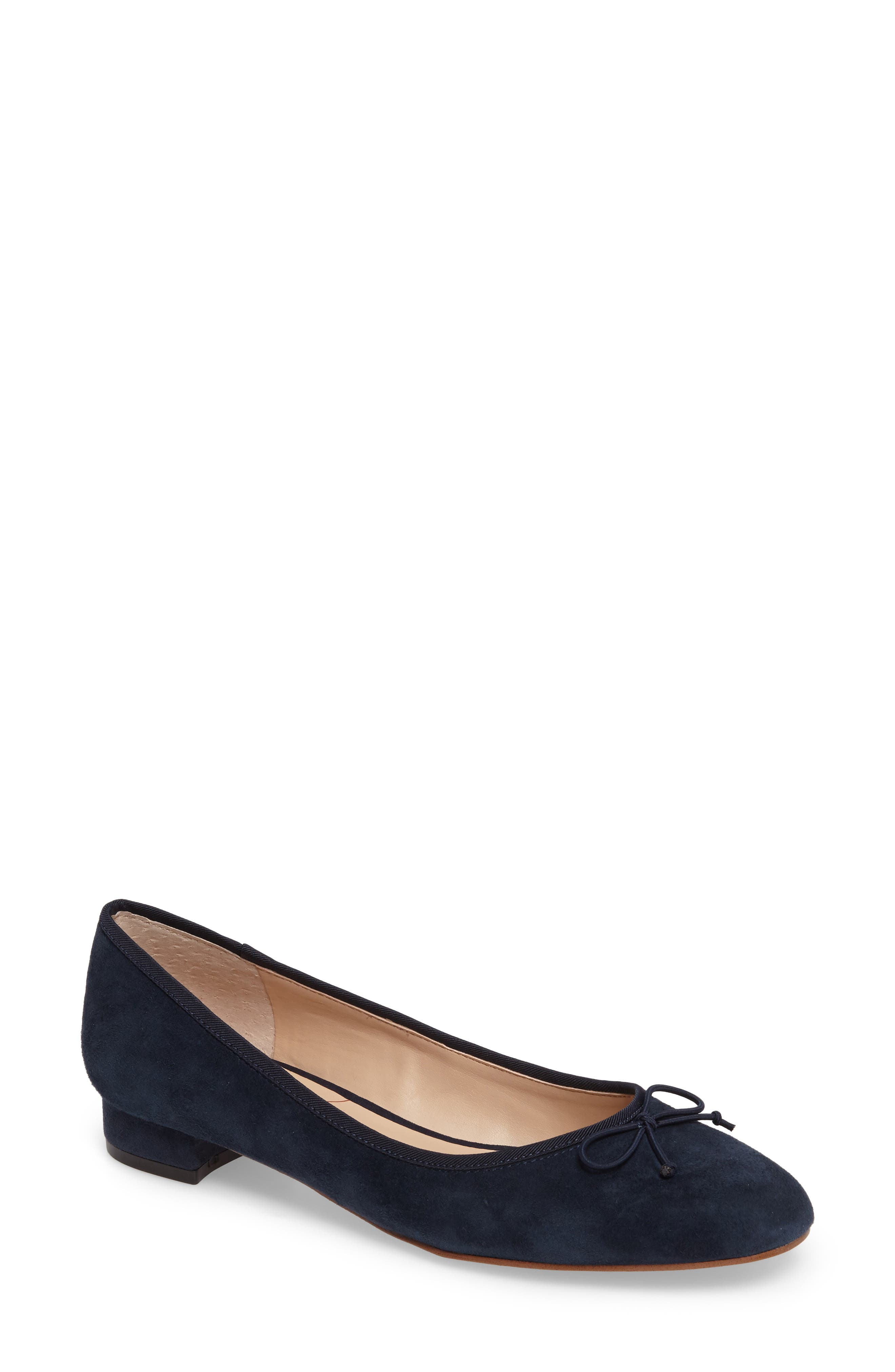 Anastasi Block Heel Flat,                             Main thumbnail 1, color,                             Ombre Blue Suede