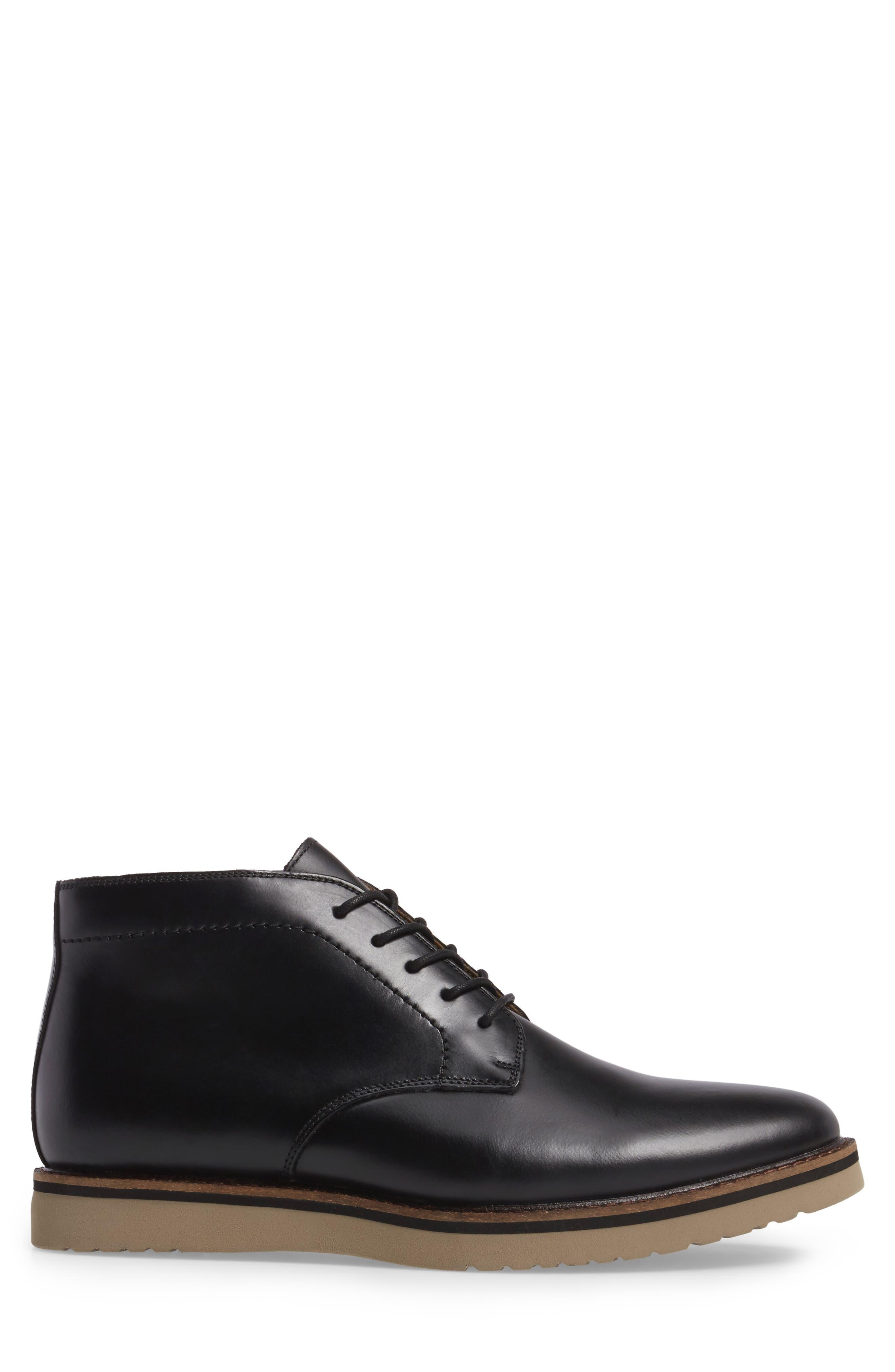 'Farley' Chukka Boot,                             Alternate thumbnail 3, color,                             Black/ Black Leather