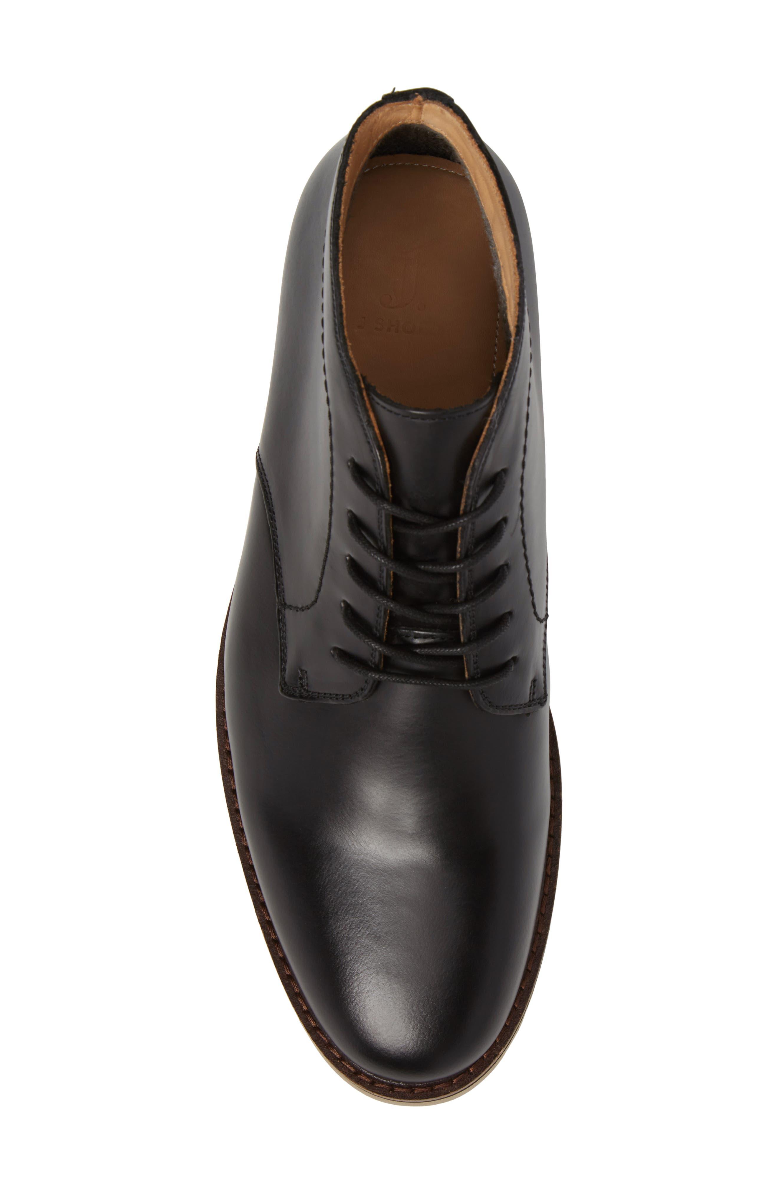 'Farley' Chukka Boot,                             Alternate thumbnail 5, color,                             Black/ Black Leather