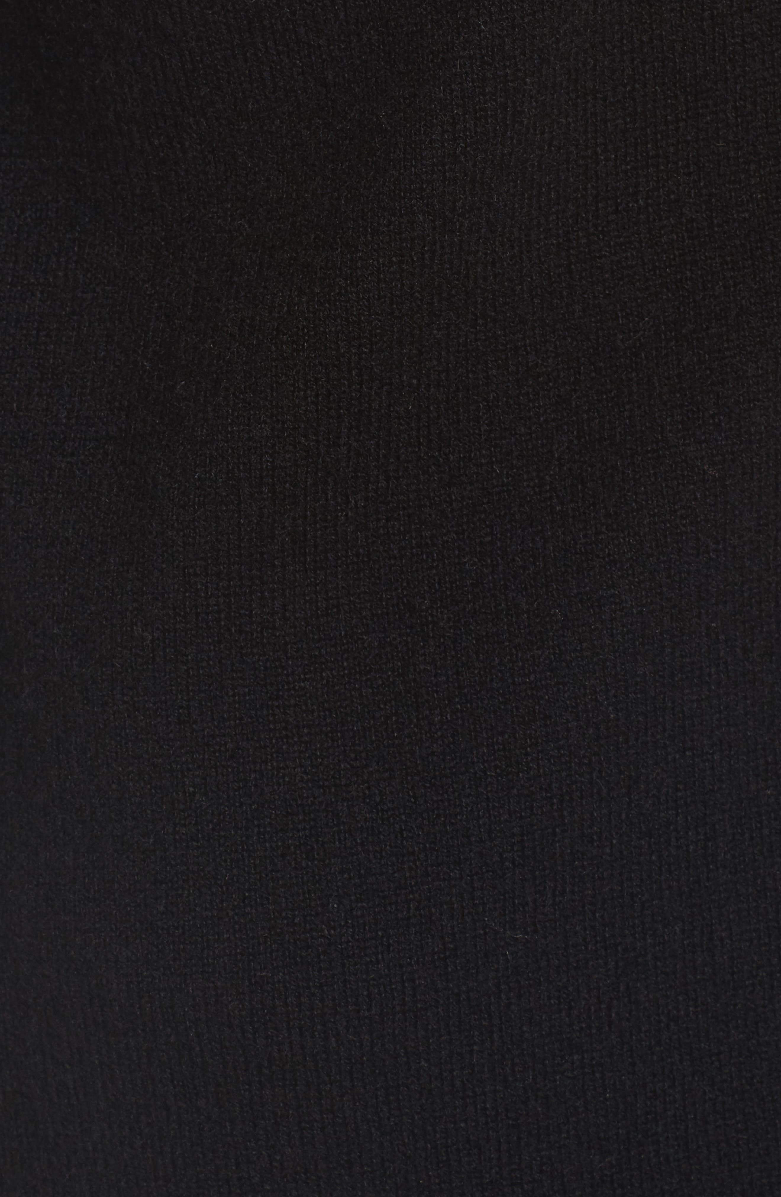 Long Cashmere Cardigan,                             Alternate thumbnail 5, color,                             Black