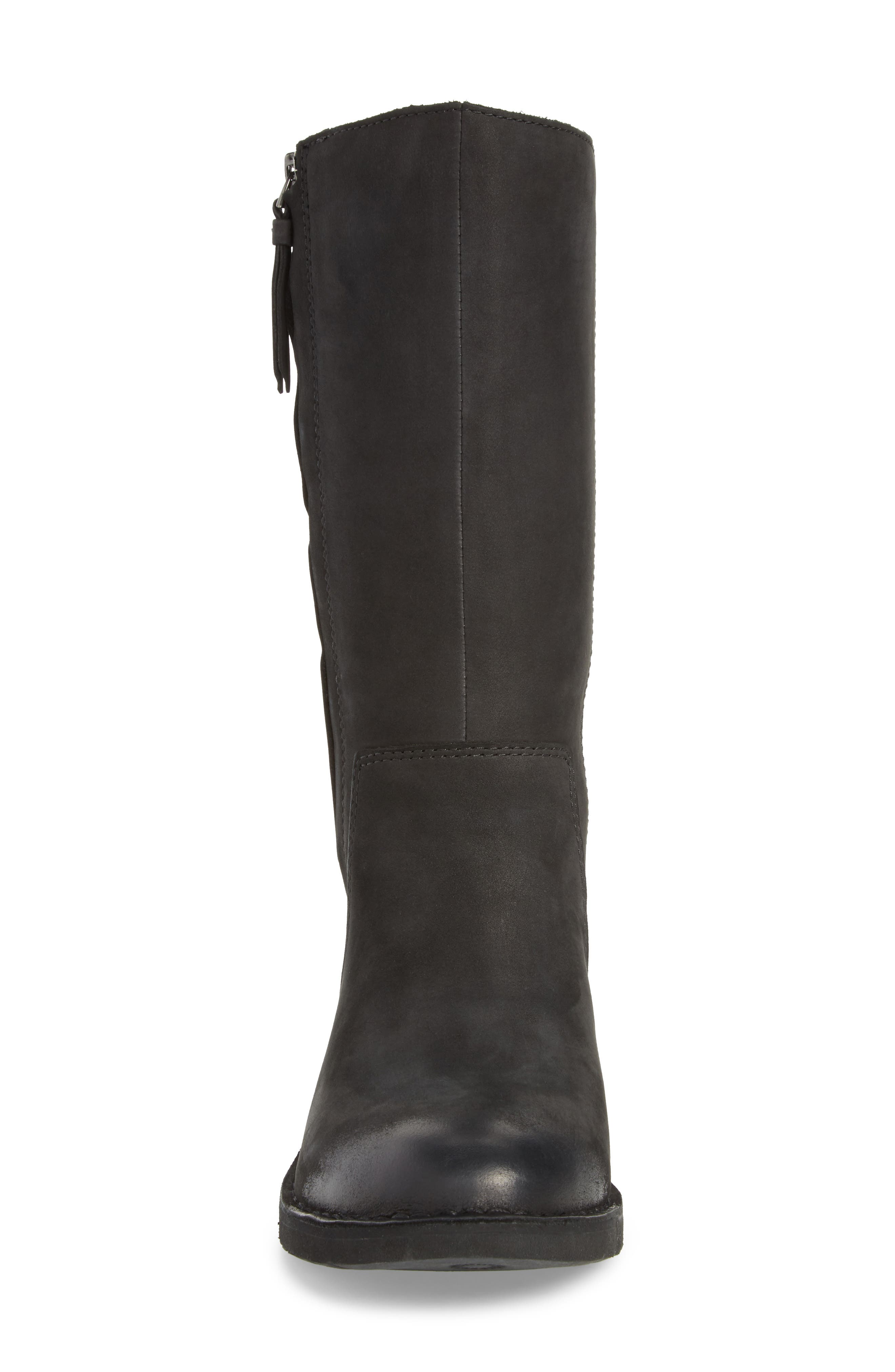 Elly Boot,                             Alternate thumbnail 4, color,                             Black Nubuck Leather