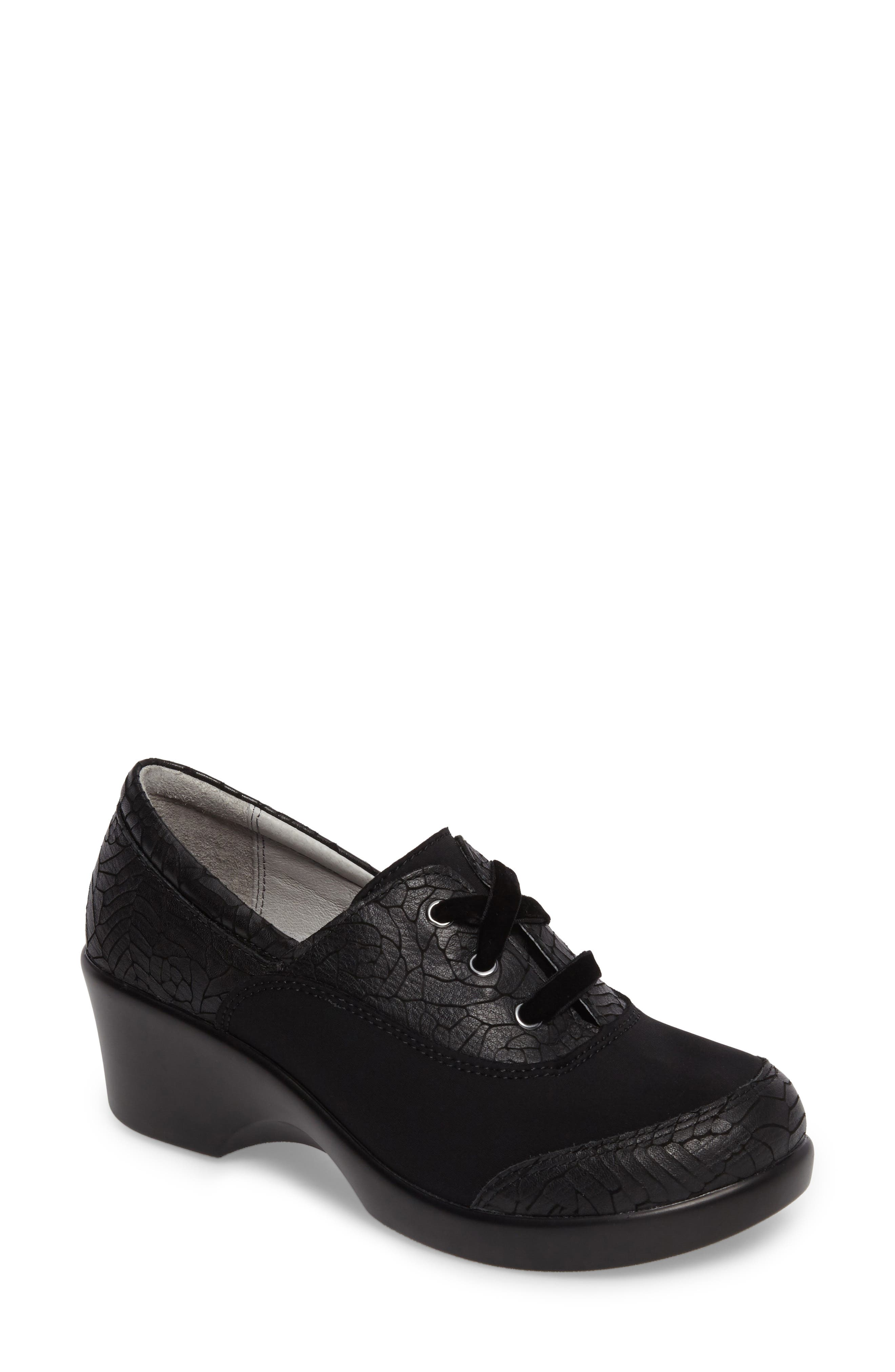 Madi Lace-Up Shoe,                             Main thumbnail 1, color,                             Floral Notes Leather