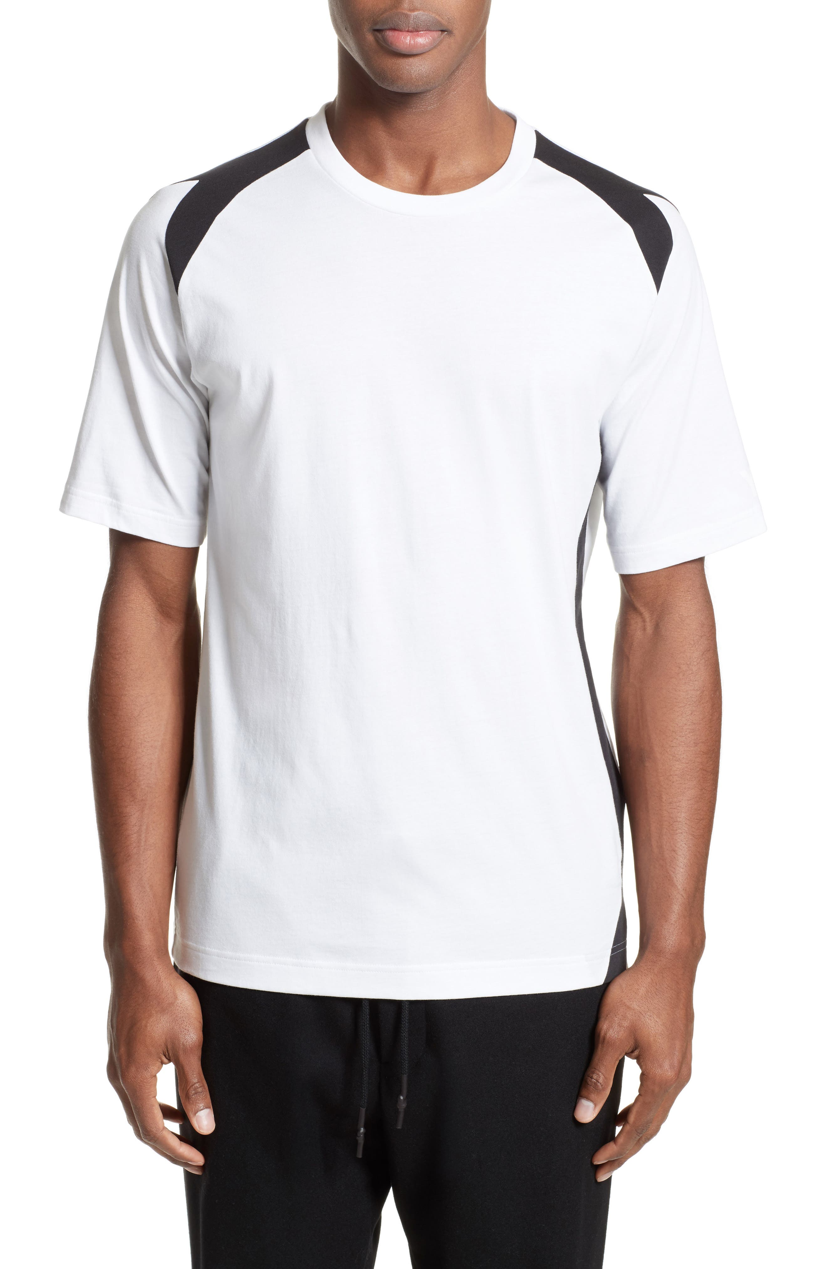 Alternate Image 1 Selected - Y-3 Stripe Panel T-Shirt