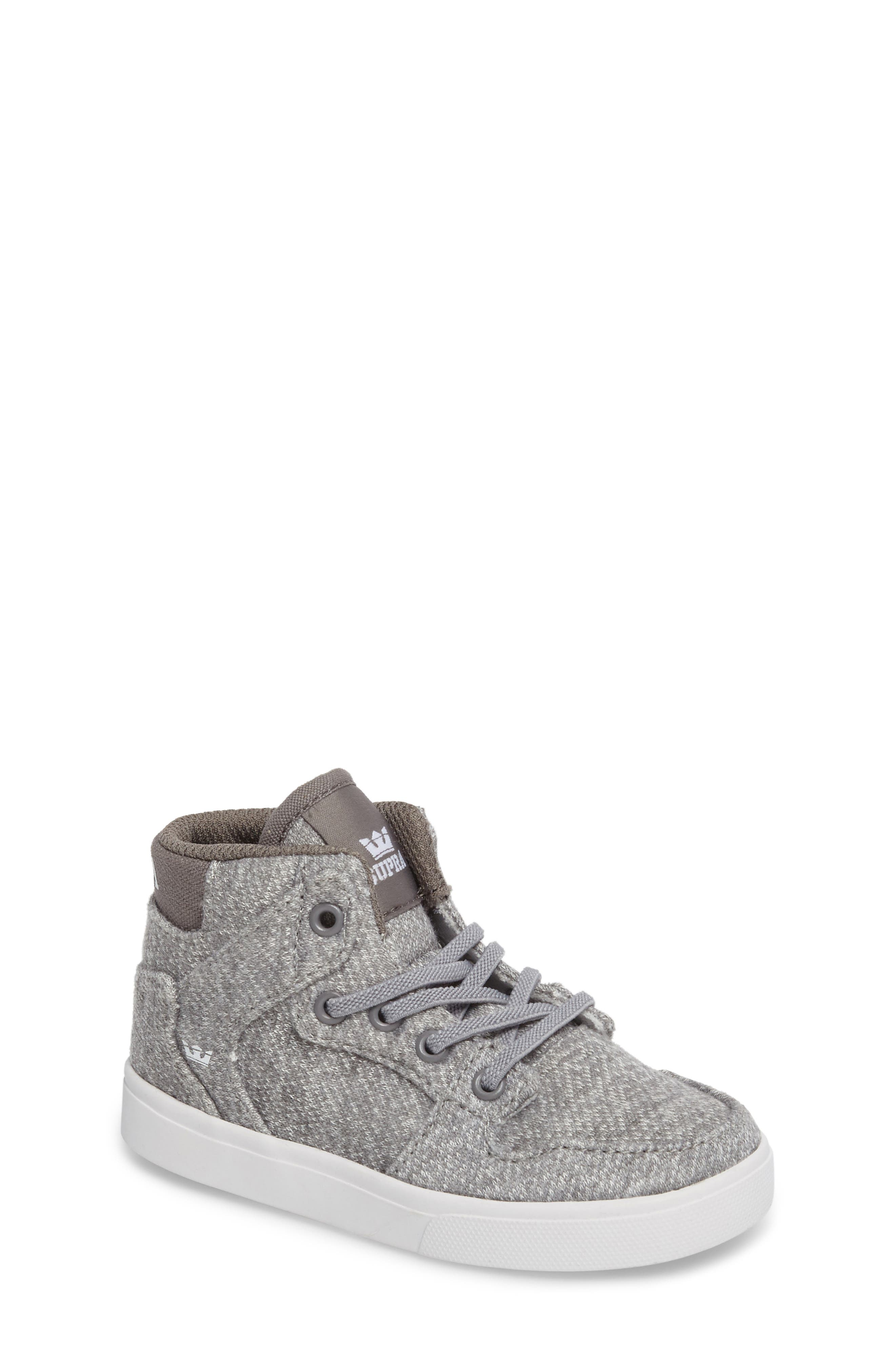 'Vaider' High Top Sneaker,                             Main thumbnail 1, color,                             Silver