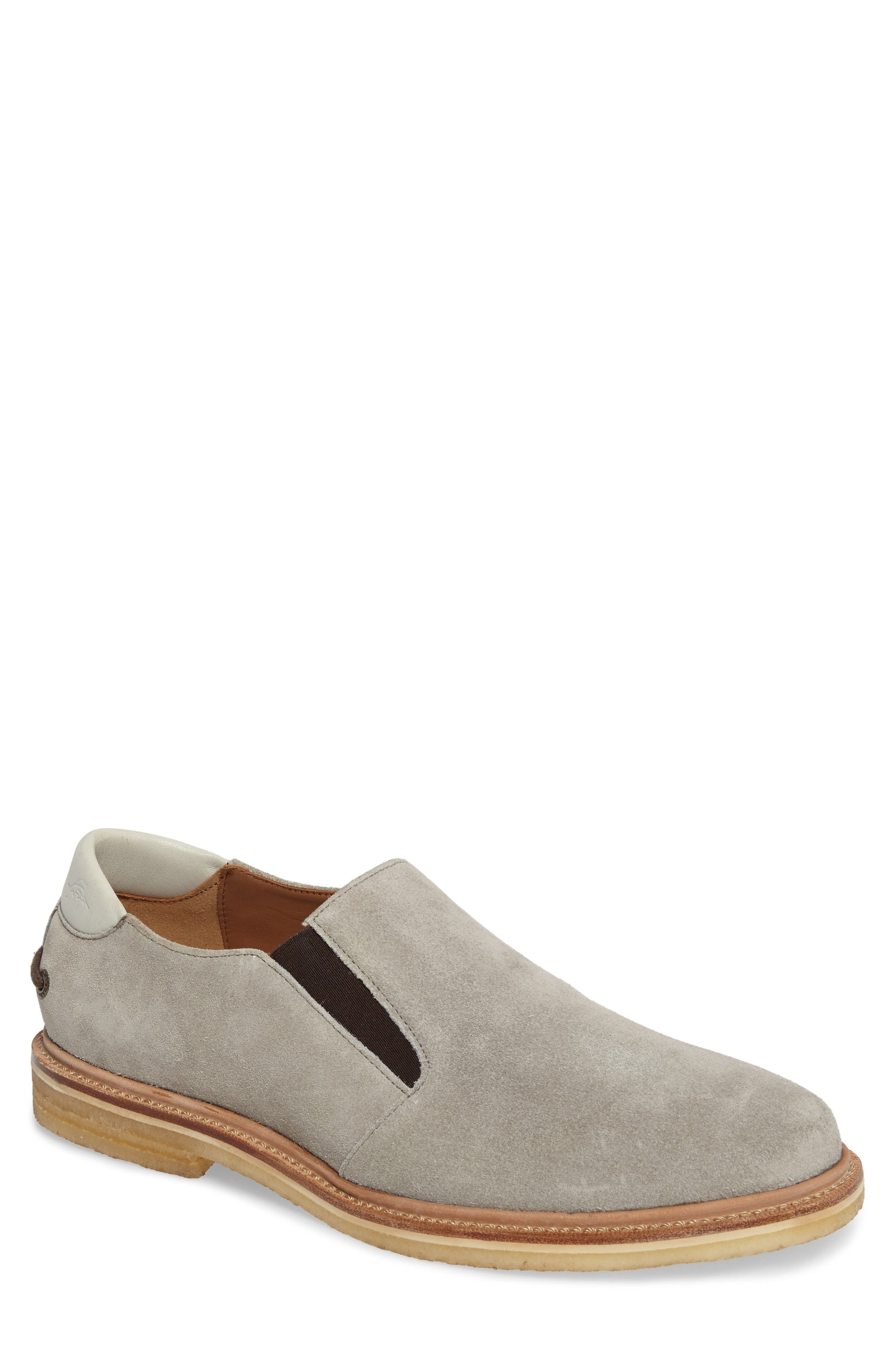 Linen Slip-On,                             Main thumbnail 1, color,                             Grey Suede