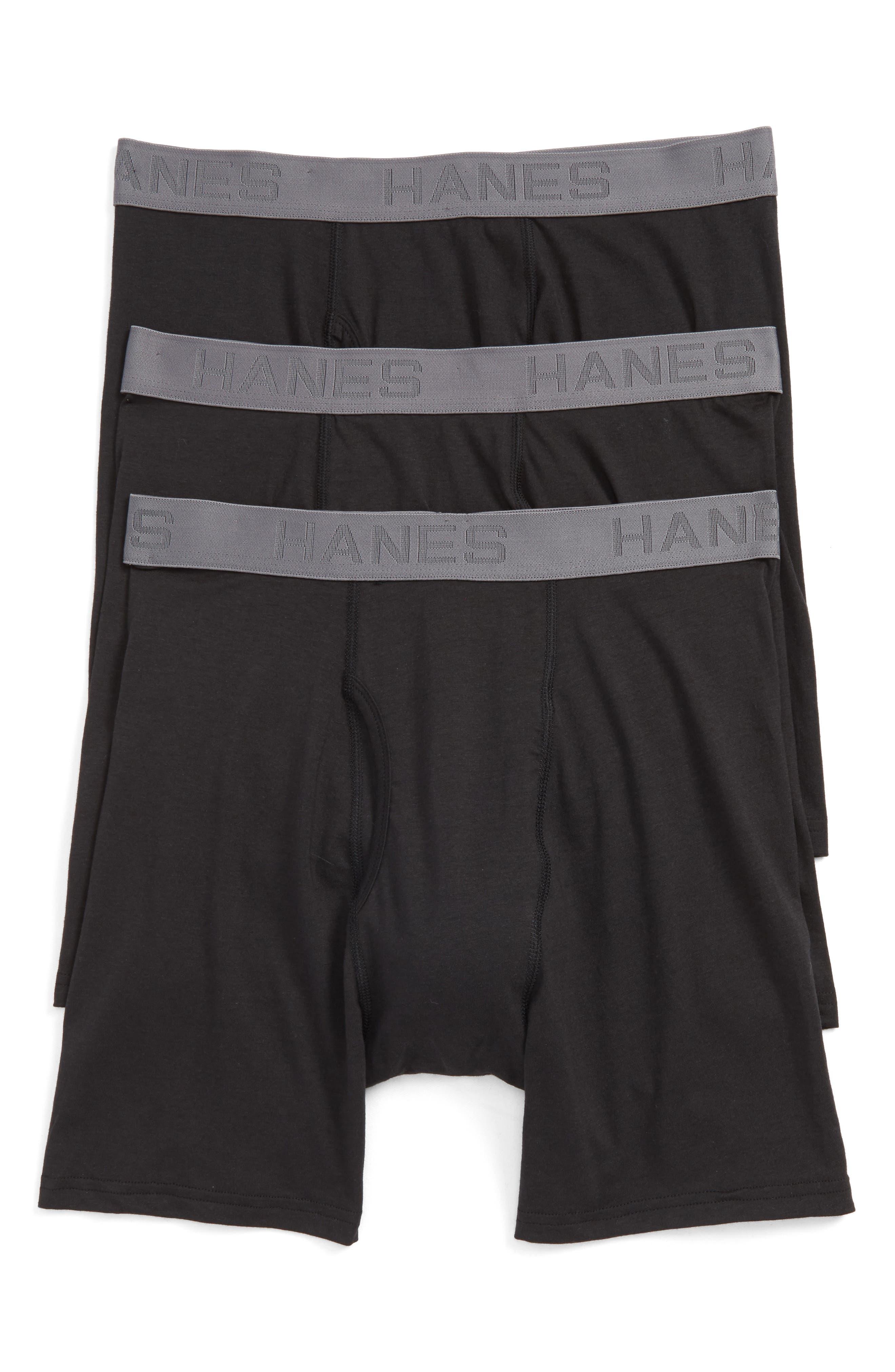 Main Image - Hanes Luxury Essentials 3-Pack Boxer Briefs