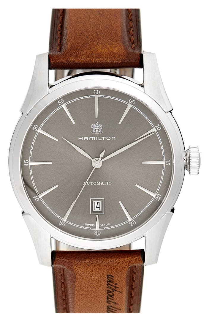 Hamilton american classic automatic leather strap watch for American classic 3
