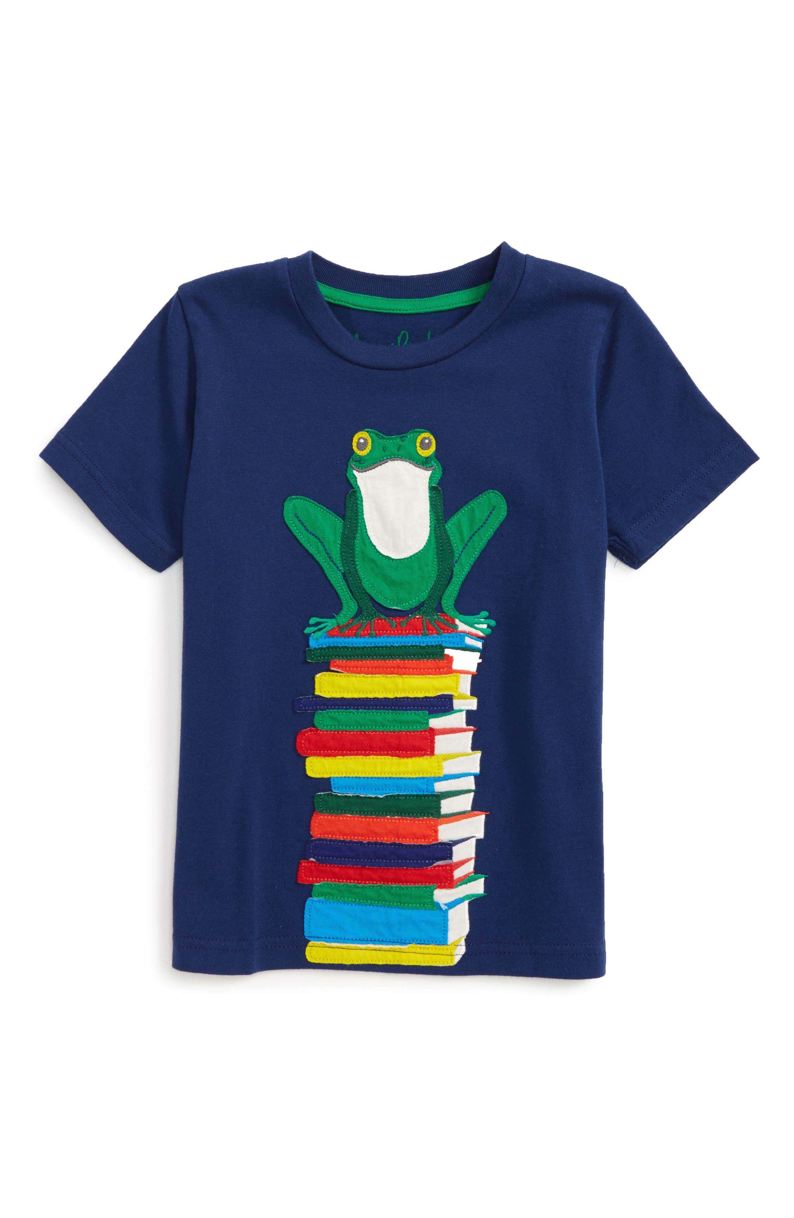 Alternate Image 1 Selected - Mini Boden Big Appliqué T-Shirt (Toddler Boys, Little Boys & Big Boys)