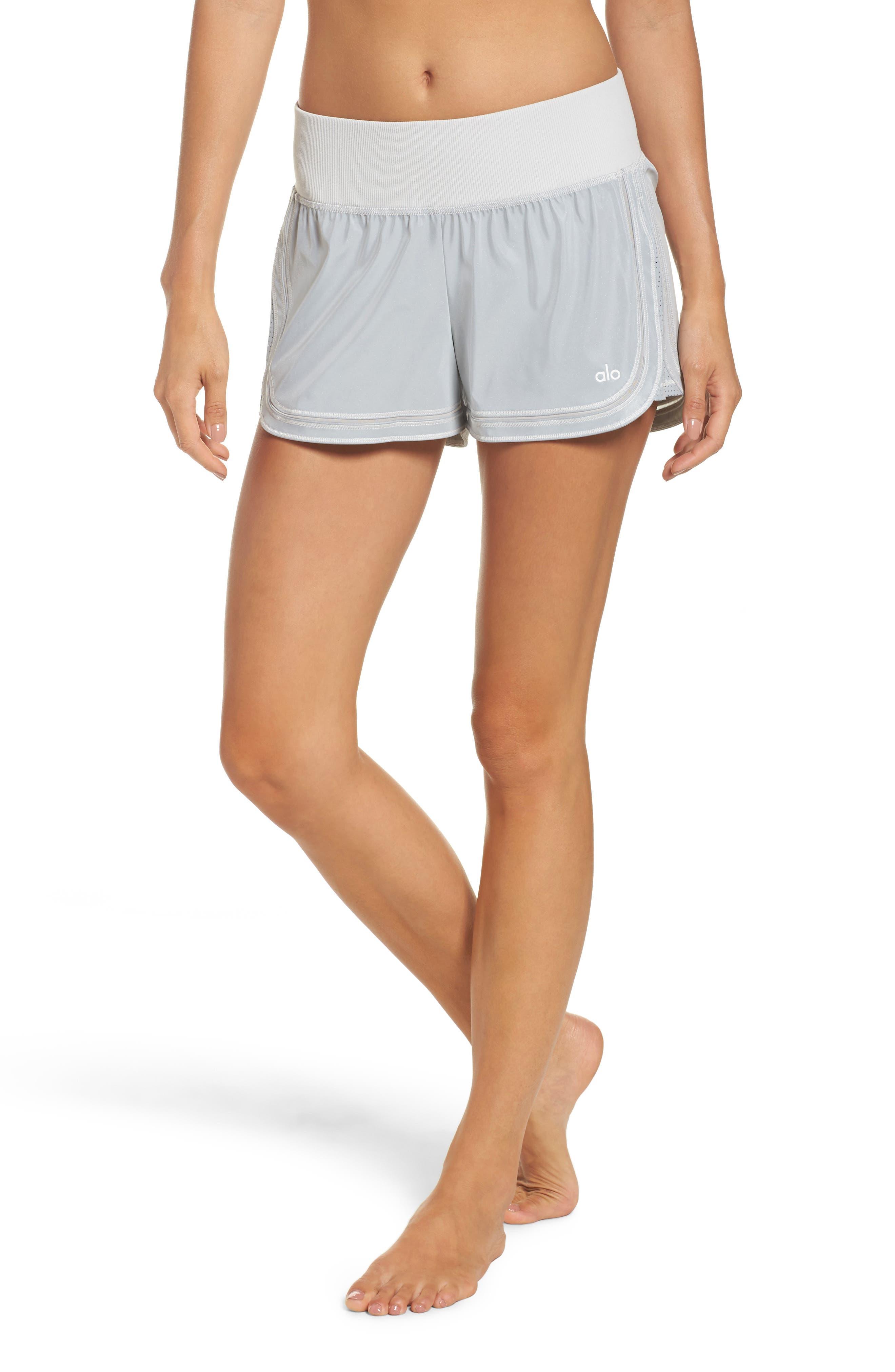 Reflective Meditate Shorts,                         Main,                         color, Silver Reflective